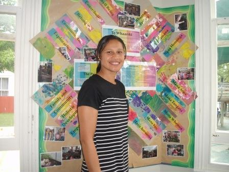 """Danella Sionetali, Area Supervisor/Kaiako matua   Kia ora. I am of Niuean/Cook Island heritage, but born and bred in NZ. I am part of the original team from 2001.  I believe early education epitomises an optimal start for children in their younger years. We've all heard of that phrase """"A child is like a sponge"""" they are constantly absorbing every aspect of what they do, see, feel, hear, touch & taste! I aim to ensure these are all deemed as learning opportunities with respect, nurture, guidance and positivity. In the long term, I can only hope I'm supporting children to develop their confidence, independence, resilience, a thirst for continued learning, and social competence."""