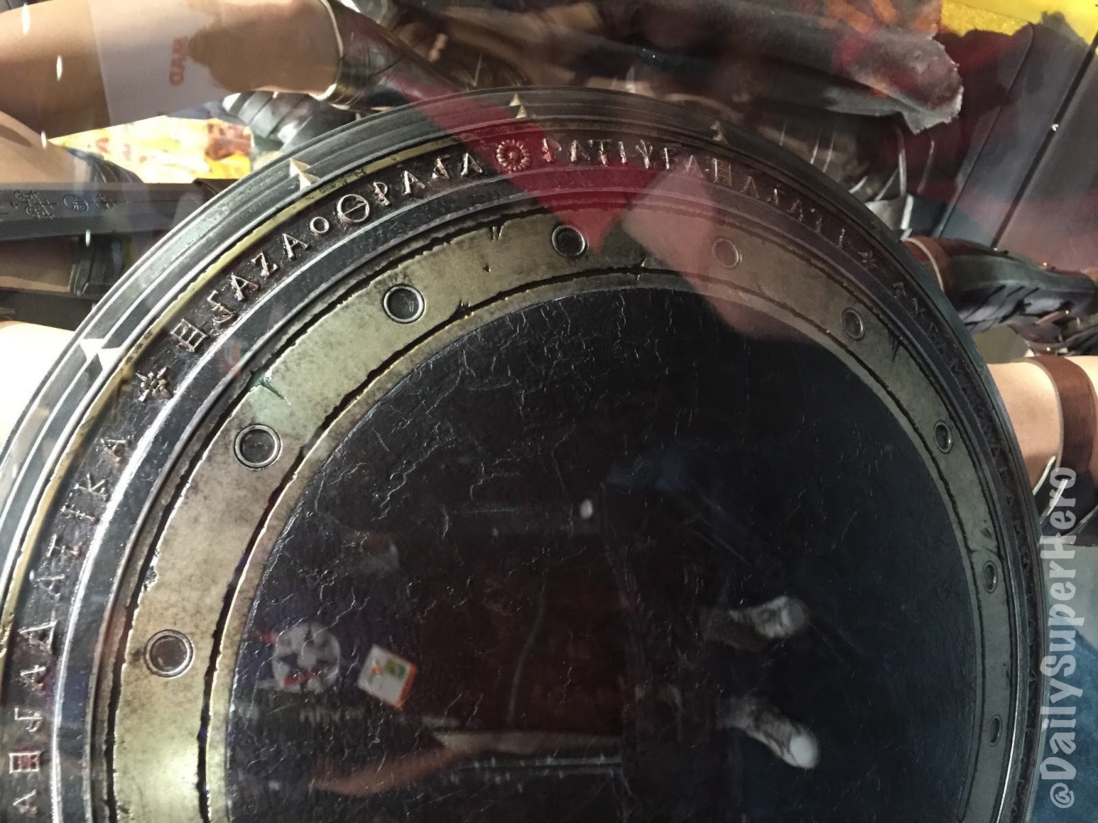Figure 2: WW's shield as displayed at Comic-Con in San Diego in August 2015. Photo credit: thedailysuperhero.com.