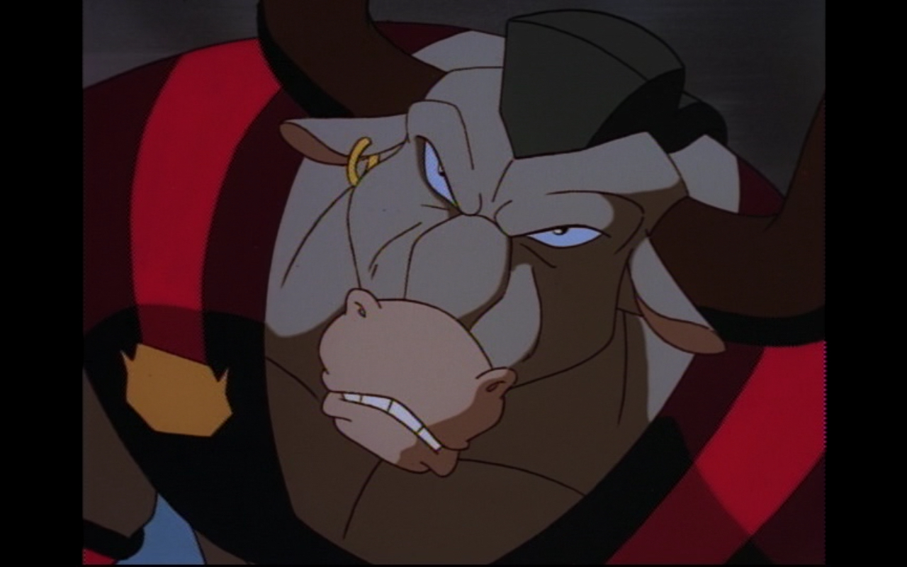 Figure 2: Taurus lives up to his bullish name as a descendant of the ancient Greek Minotaur. Photo credit: screen capture (Buena Vista Television/Disney Television Animation).