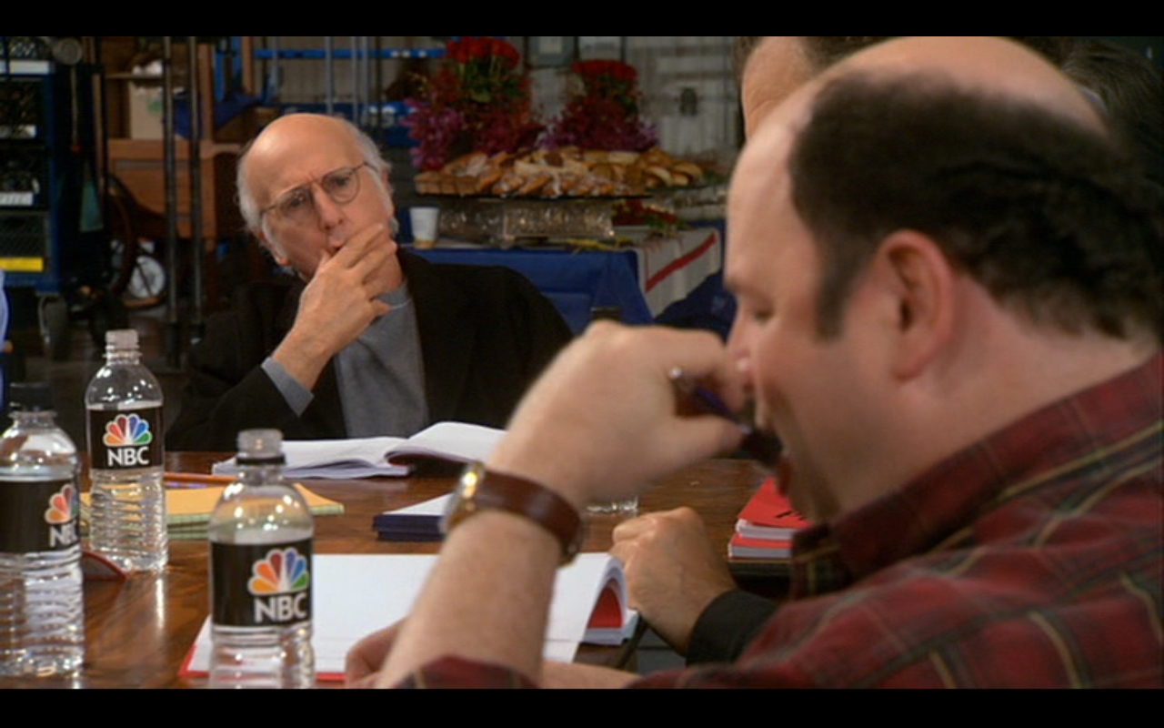 """Figure 2: """"It was in every orifice of your body!"""" Jason Alexander gets too personal with Larry's pen."""