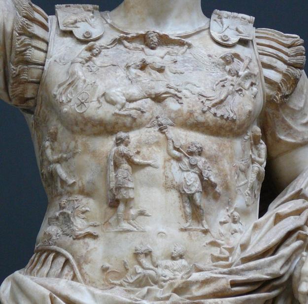 Figure 2: Detail of the Augustus of Prima Porta statue's breastplate.