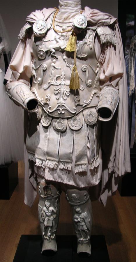 Figure 3: Commodus' white armor on display.
