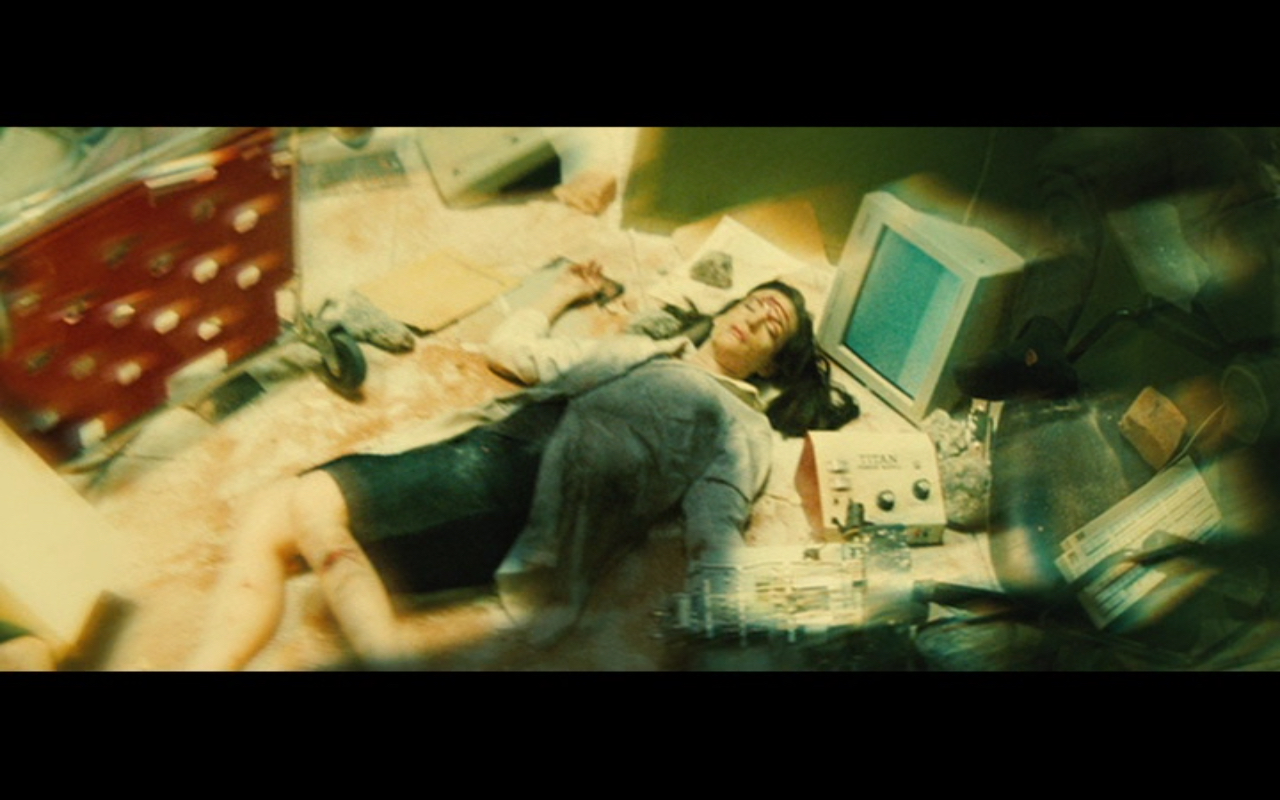 Figure 1: a shot from the opener of  The Incredible Hulk . In his first transformation into the Hulk, Bruce Banner severely injures Betty Ross.