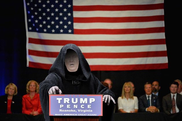 Figure 8: Even before Trump won the U.S. presidential election, some commentators were comparing him to the  Star Wars  emperor (like   The Huffington Post  , who created the image above). Photo credit:  The Huffington Post .