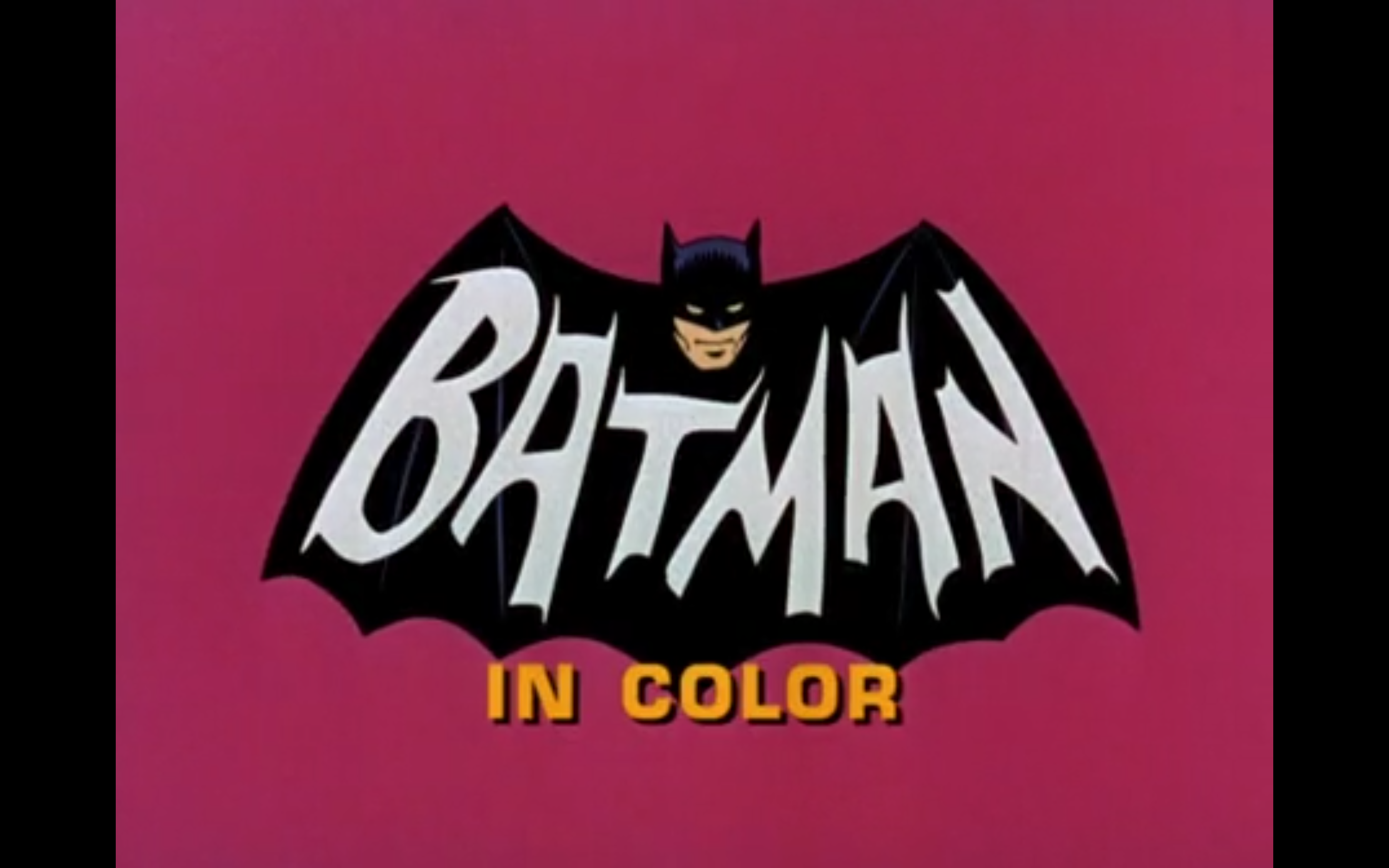 "Figure 2: A title card from the 1966-8 Batman series on ABC (""in color""!)"