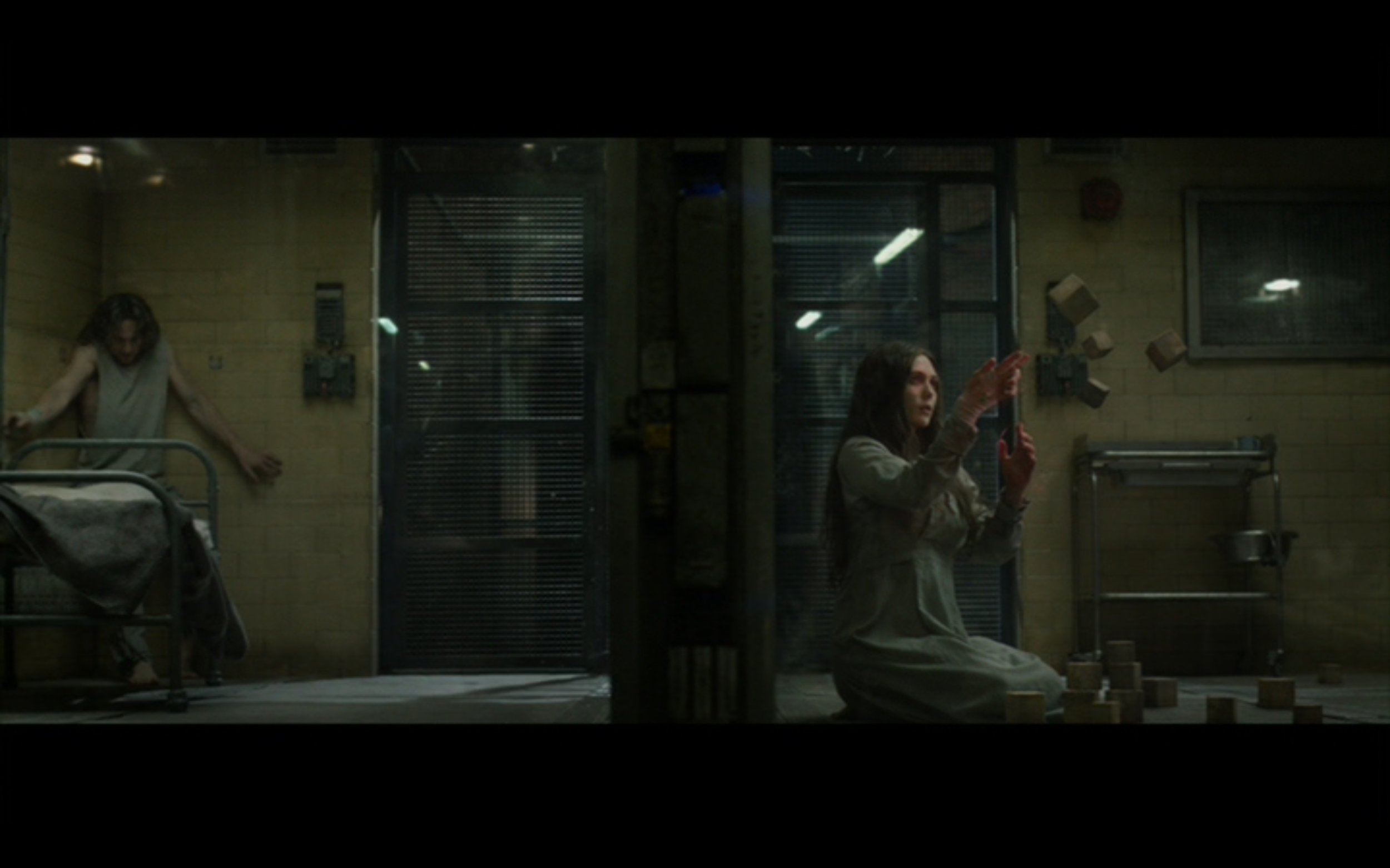 "Figure 2: HYDRA scientists create two superpowered weapons by experimenting on a (human) brother and sister with an Infinity Stone. ""This is the age of miracles, doctor,"" one of them remarks.  Captain America: the Winter Soldier  (Russos 2014), Marvel Studios/Walt Disney Studios Motion Pictures."