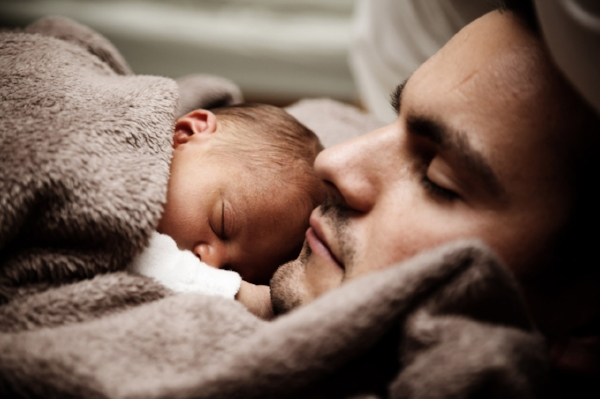 Gratuitous dad-and-baby picture, since we hope all the Dads will keep brushing their teeth, too!