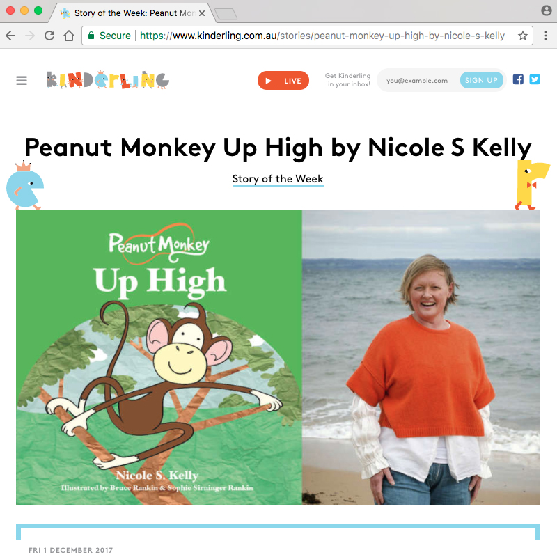 KinderlingStoryOfTheWeek_PeanutMonkeyUpHigh01.jpg