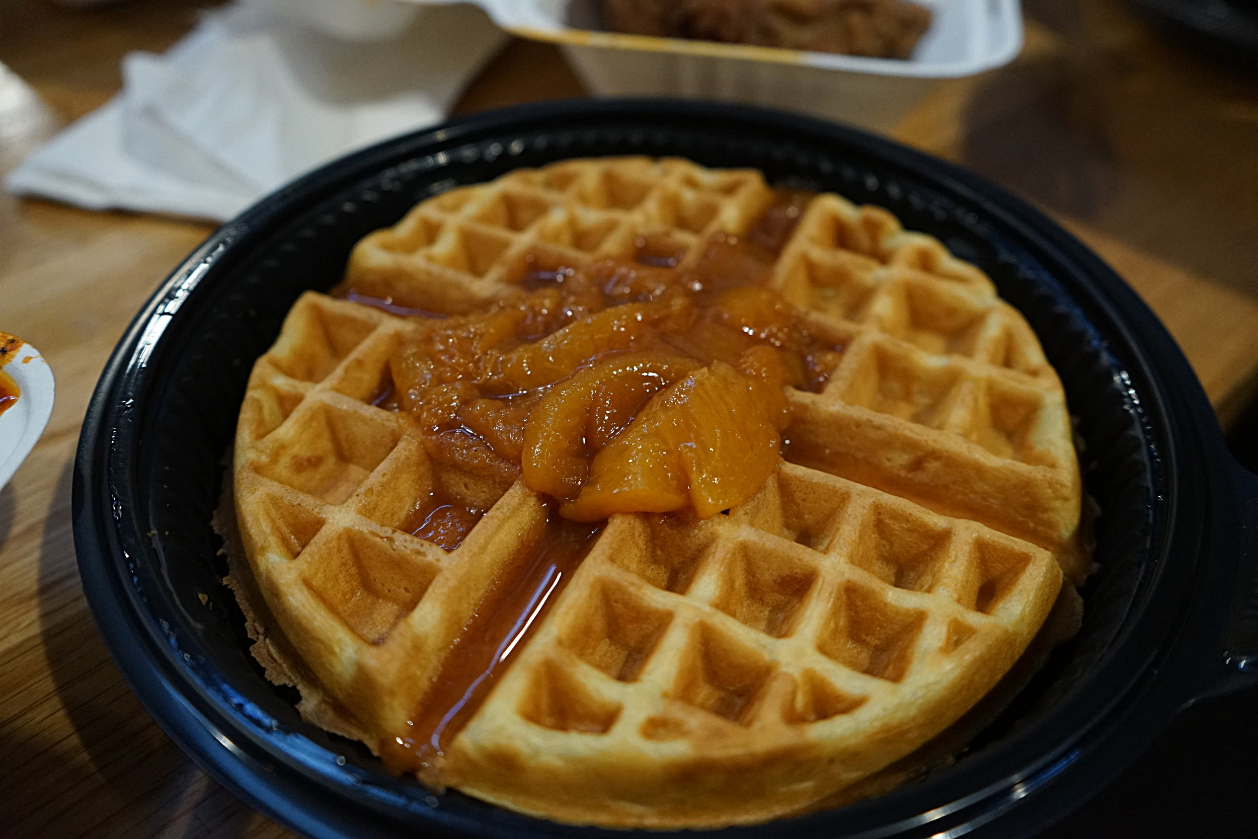 Peach Waffle: Waffle flavors are seasonal. The only downside to this waffle is that it wasn't peach flavored.