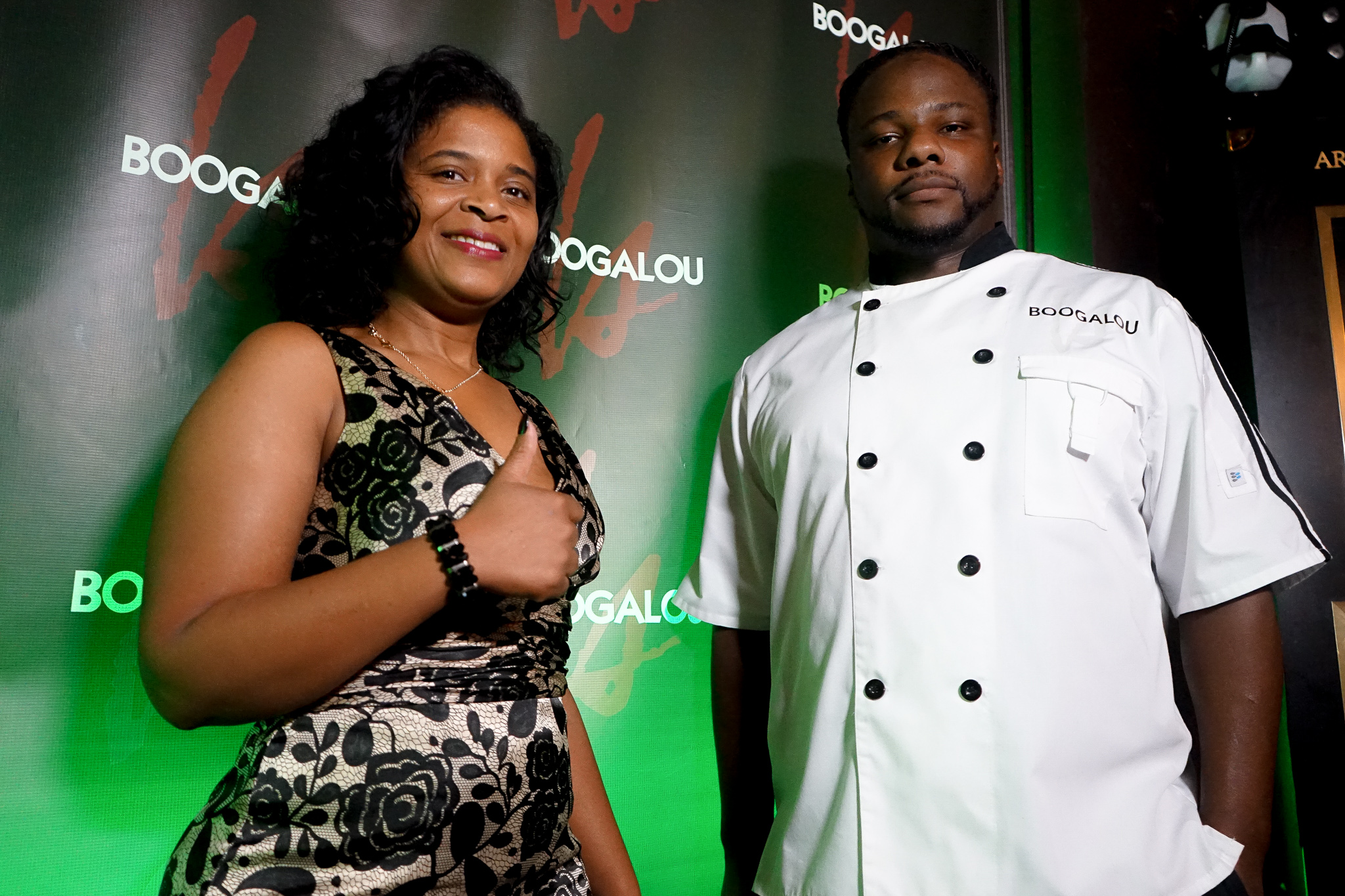 I thought this was a pretty boss picture of Jackie and Chef!