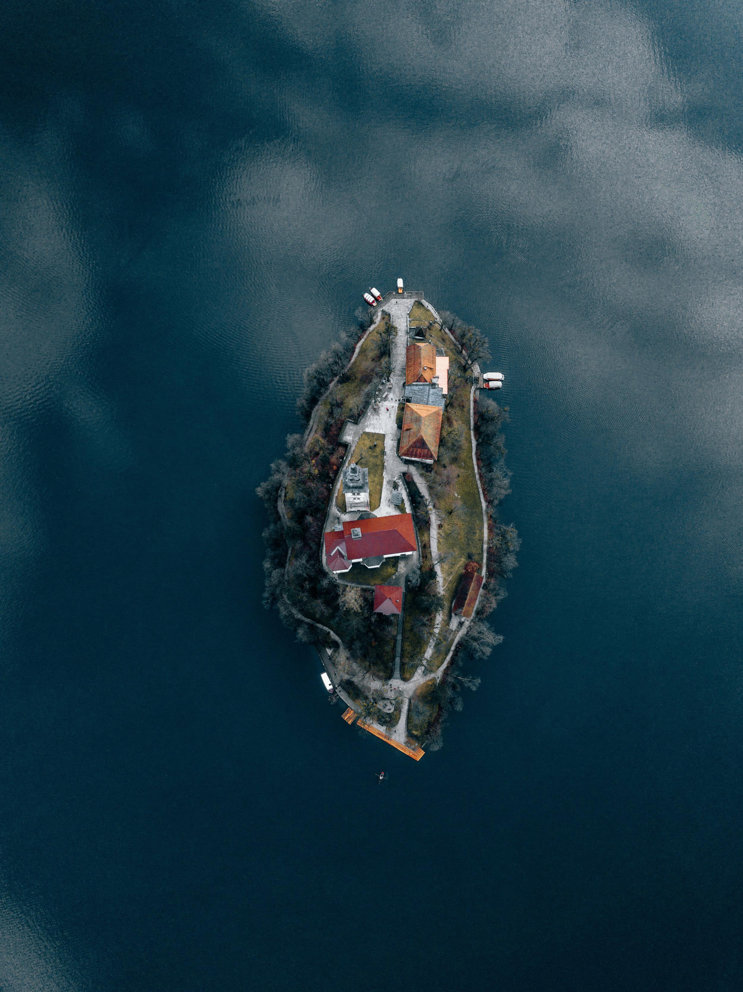Flying over Bled