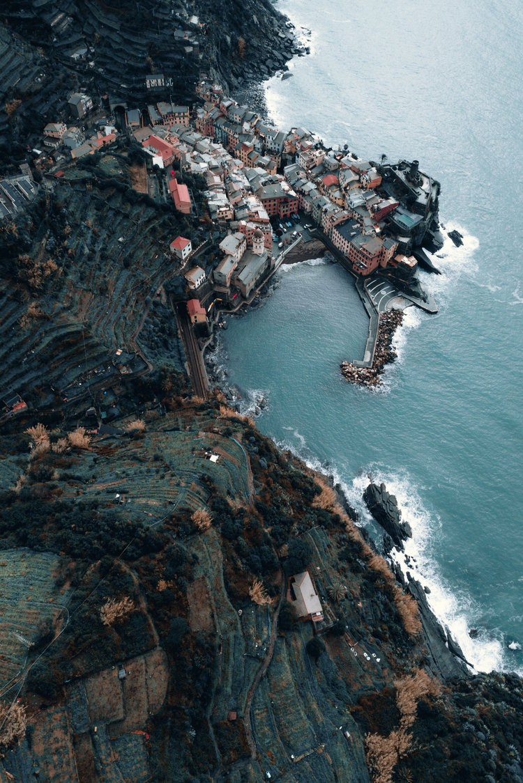 Flying over Vernazza
