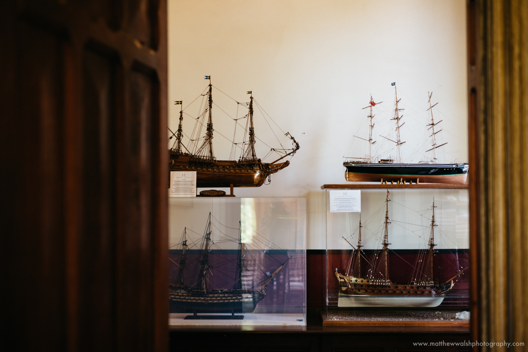 Model ships, details of the historic house