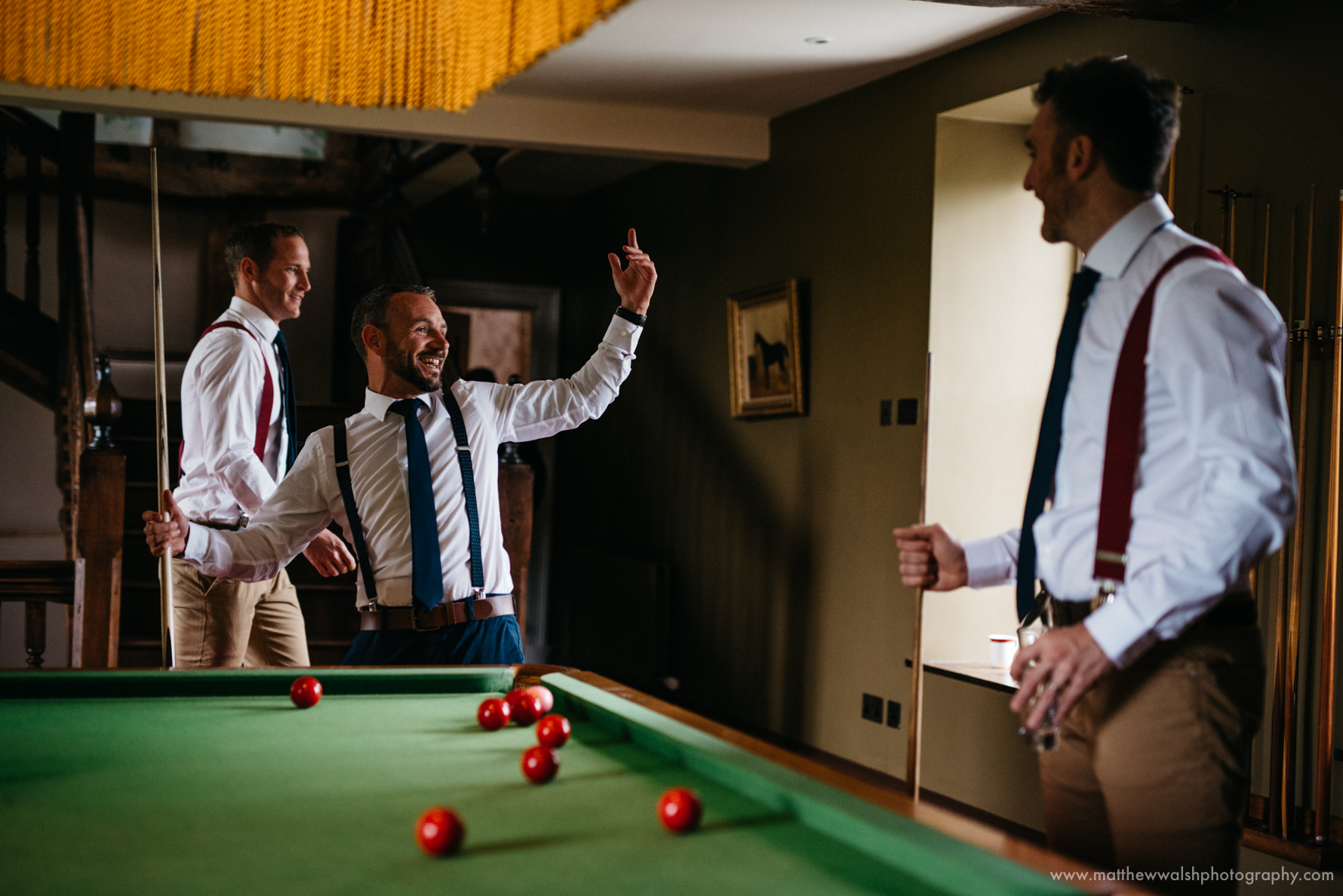 The grooms winning shot