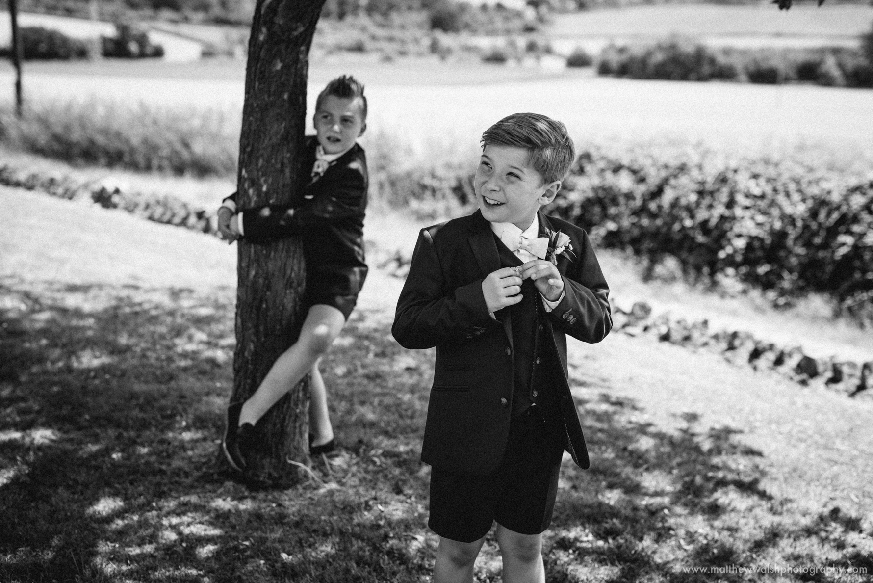Pageboys in the shade looking very smart and stylish