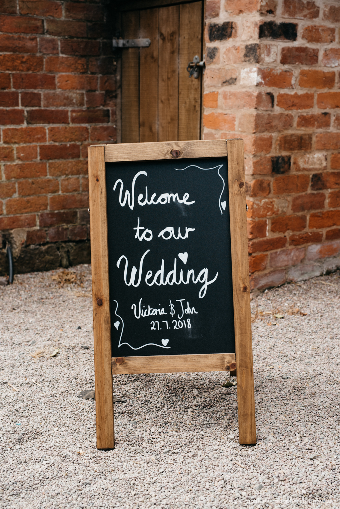 Welcome to our wedding signpost