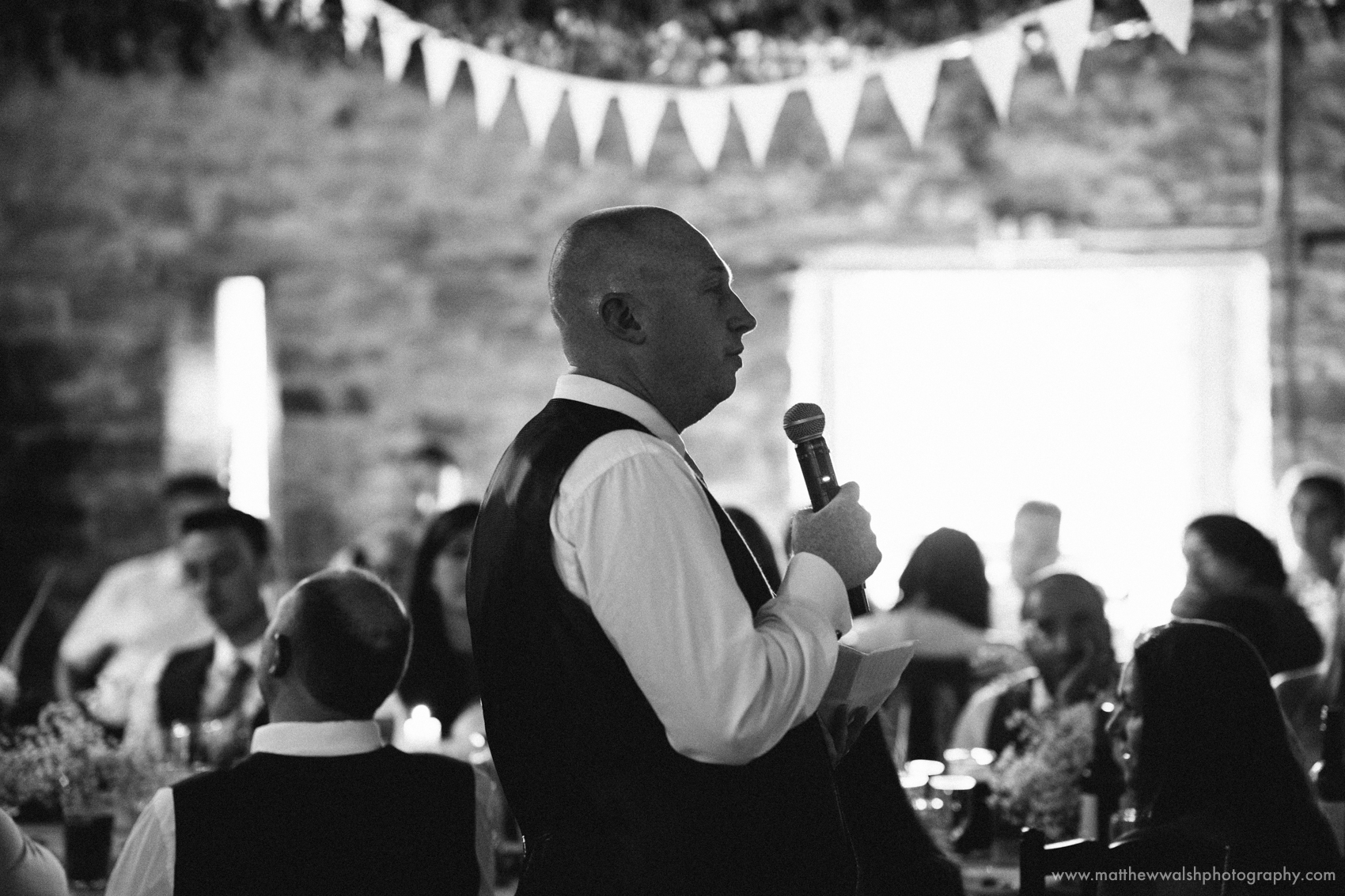 Best man making his speech