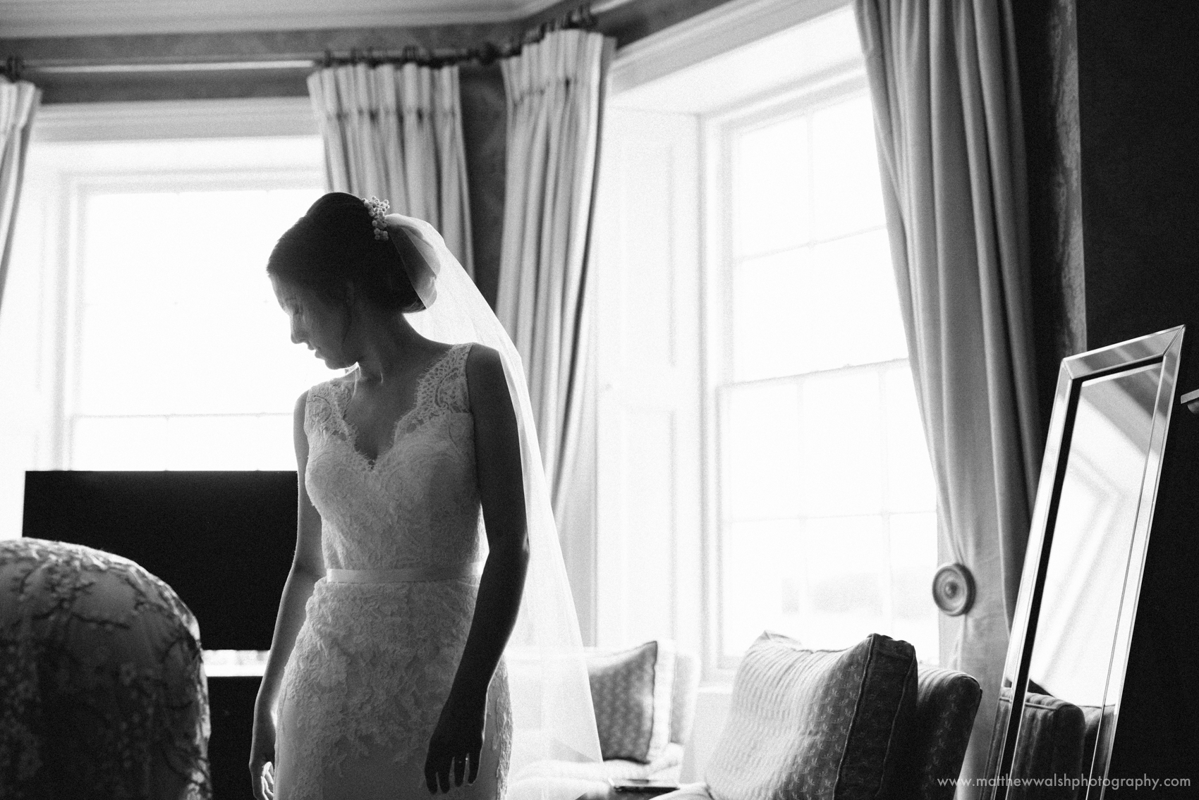 The bride in her perfect wedding dress