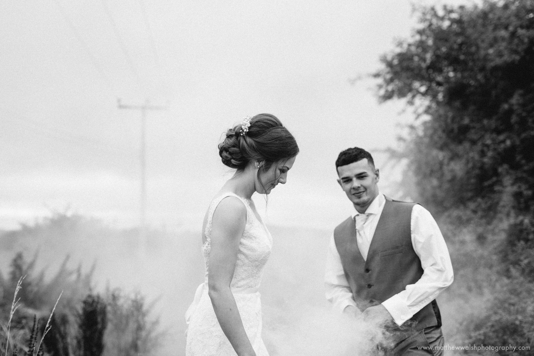 Using a smoke bomb to create a little magical atmosphere