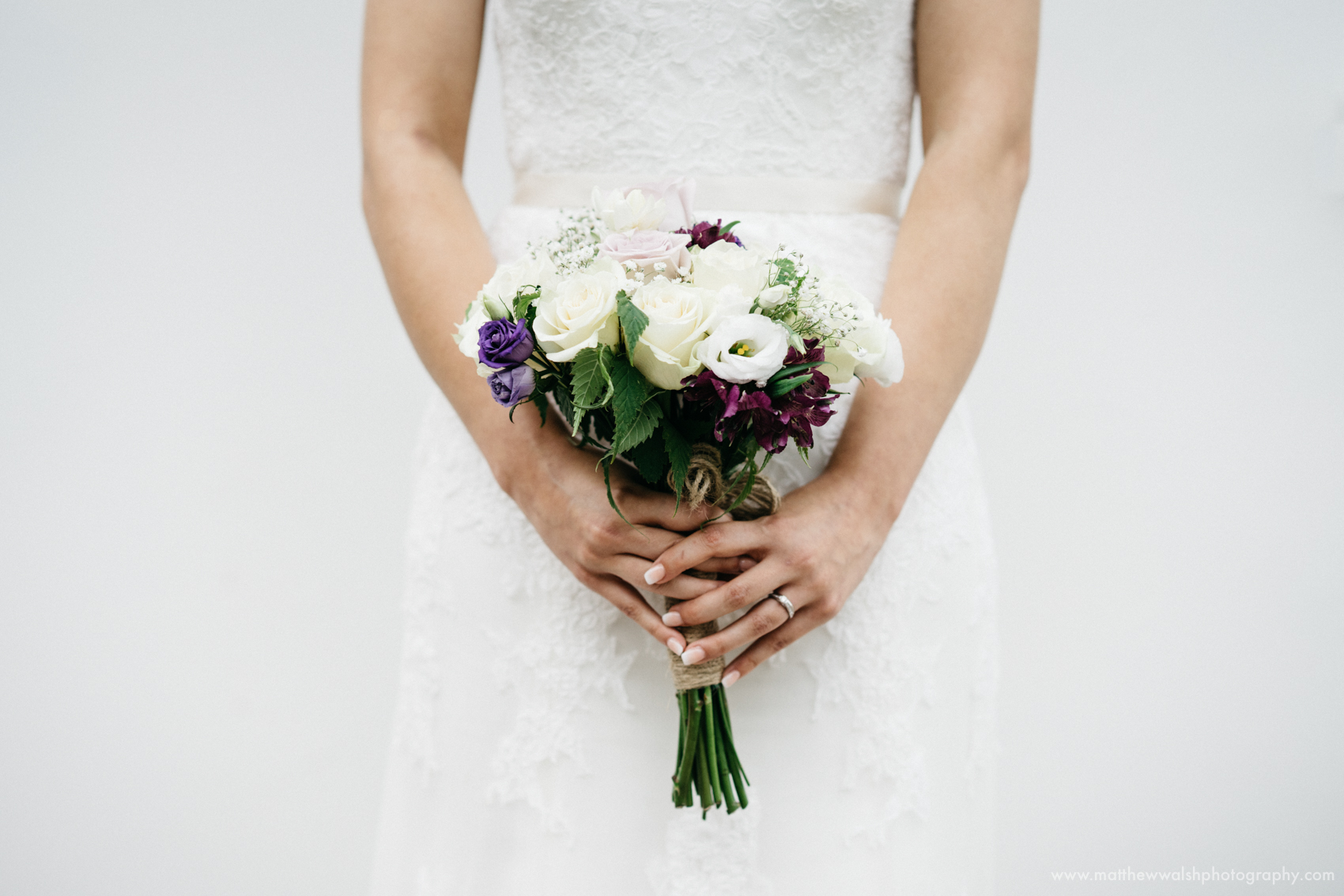 A Detail Of the brides Bouquet