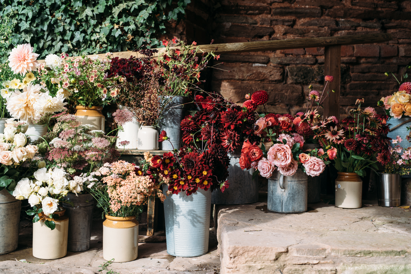 Beautiful freshly picked flowers all ready to be turned into wonderful creations