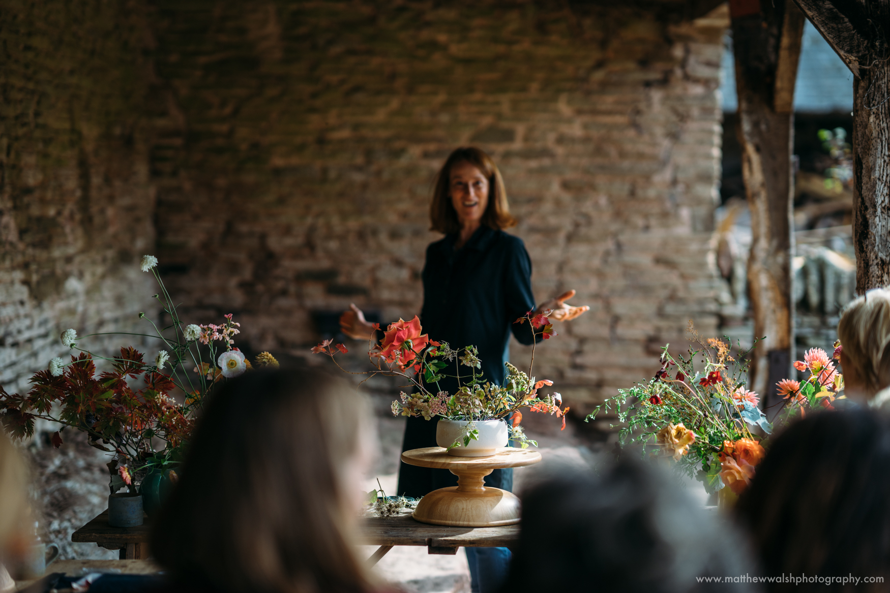 Brigitte of Moss and Stone under the Loggia, the location where couples could say their vows
