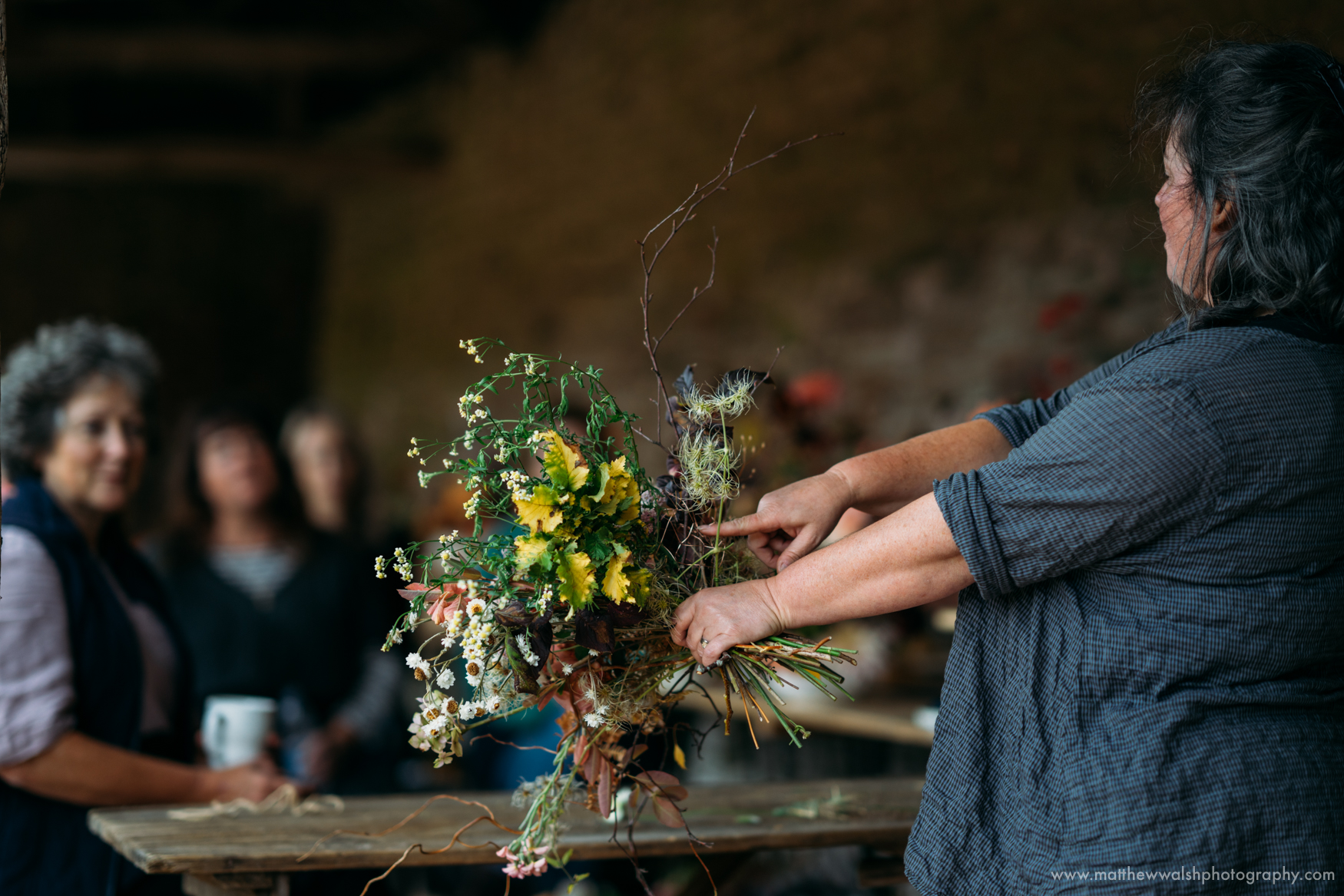 Melissa of the Twisted Sisters shows how to make a bouquet