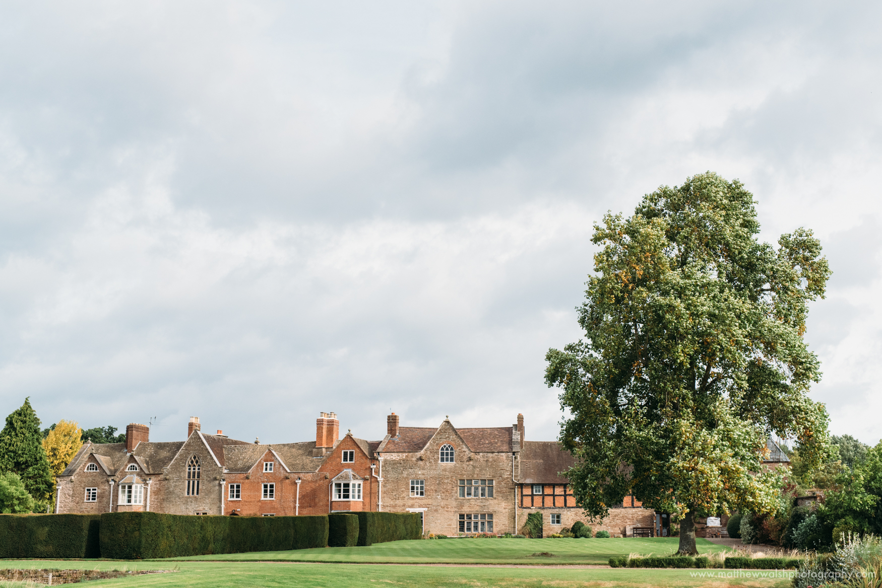 A landscape view of Broadfield Court to add context to the set