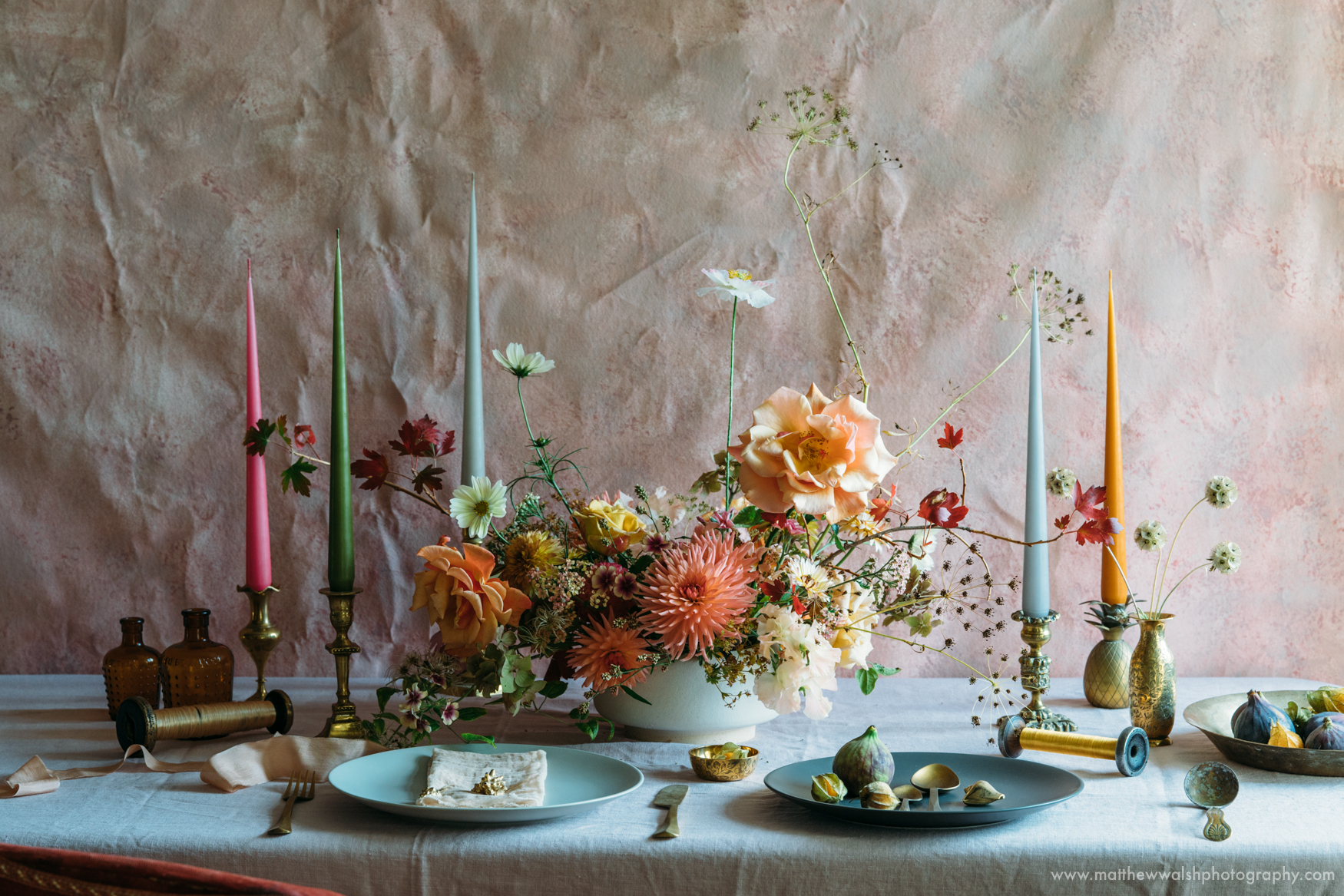 The wonderful natural light pouring through a window to perfectly light this still life display