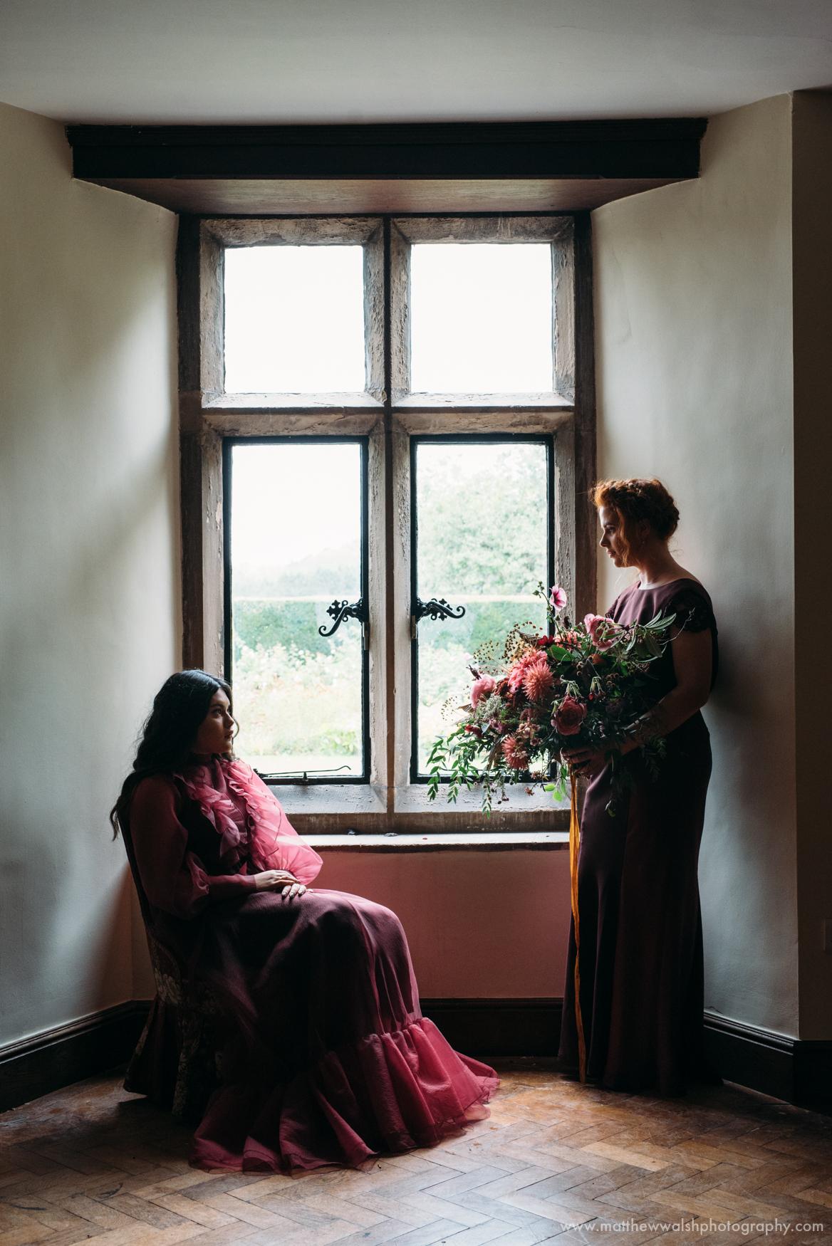 Looking very period posing in a bay window in Broadfield Court