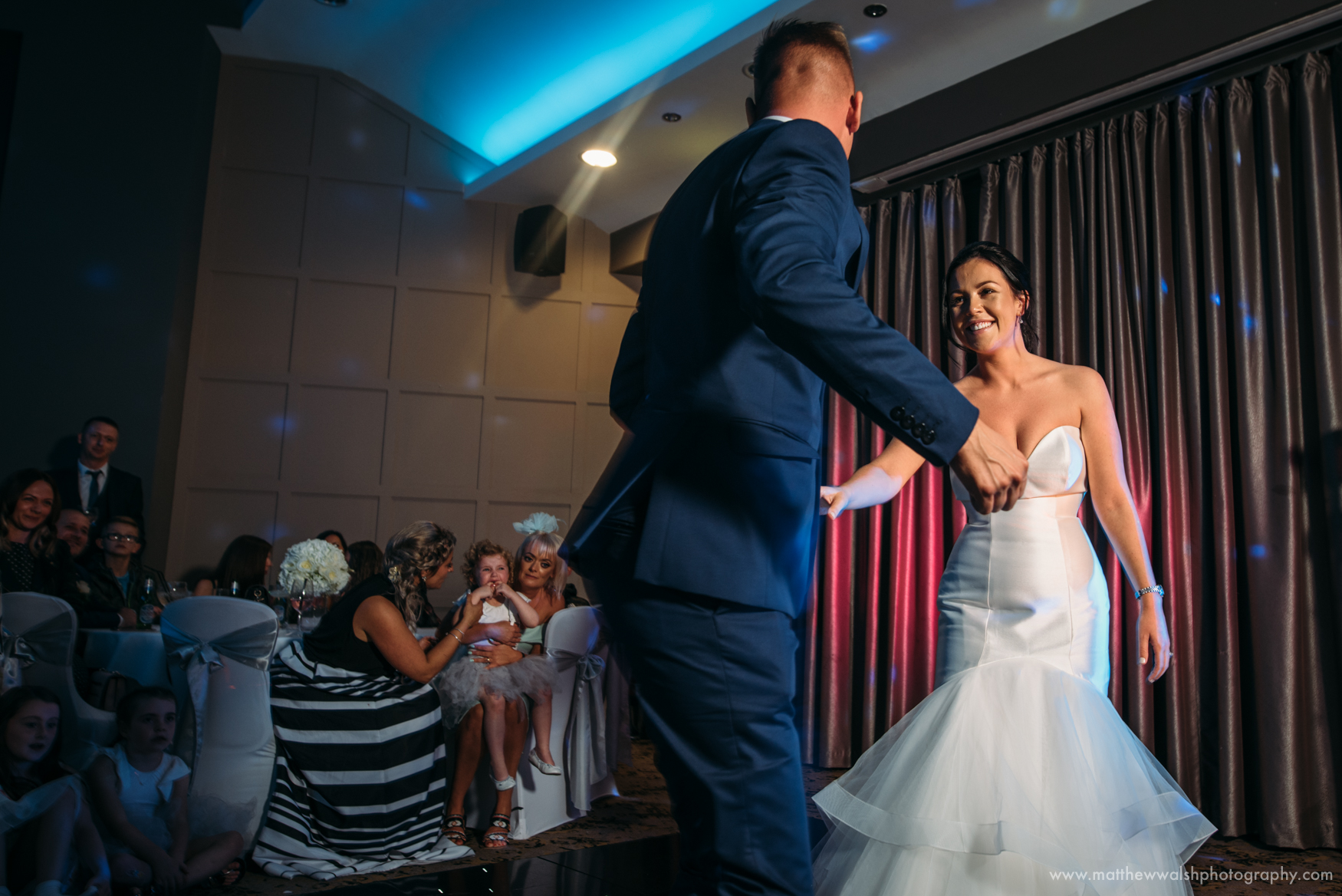 An gorgeous first dance