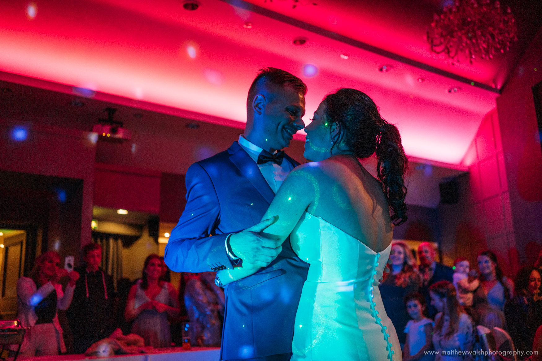 A beautiful and colourful first dance