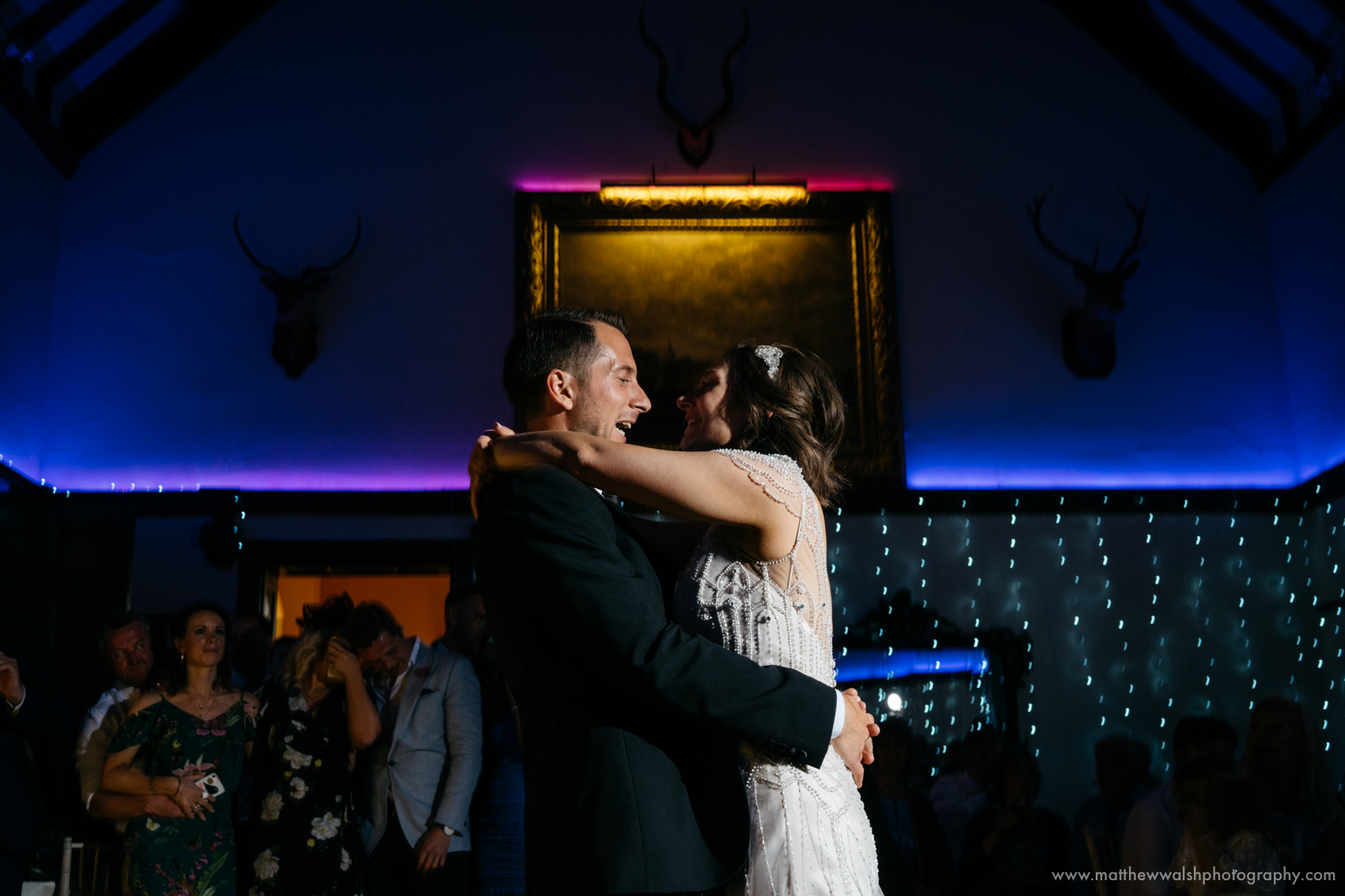 Happiness during the first dance