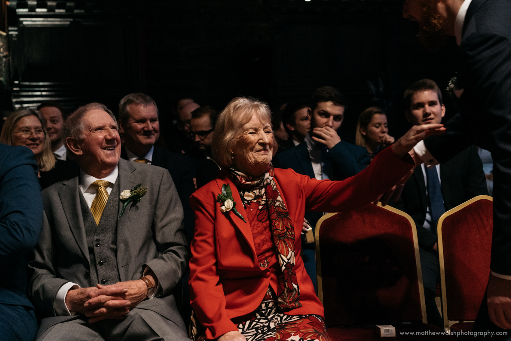 Proud grandparents get front row seats at he ceremony