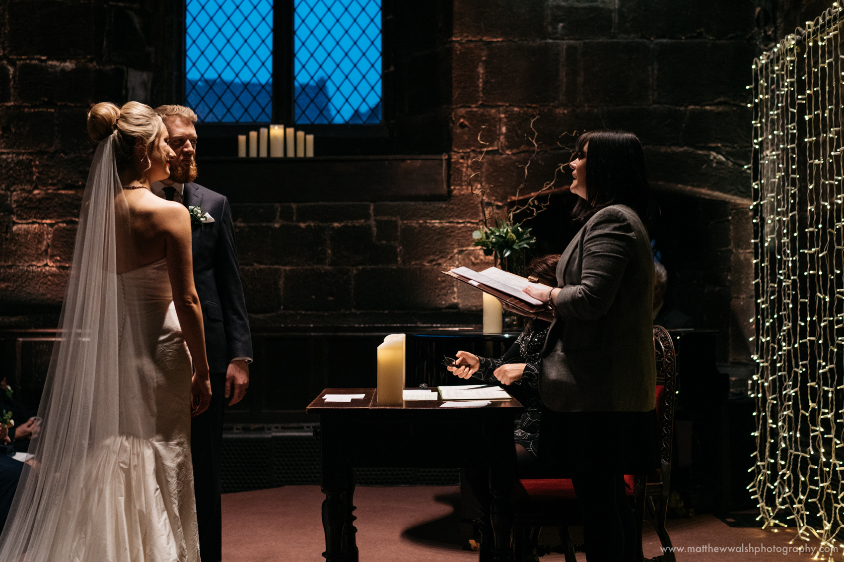The final part of the the ceremony in the Baronial hall at Chetham's