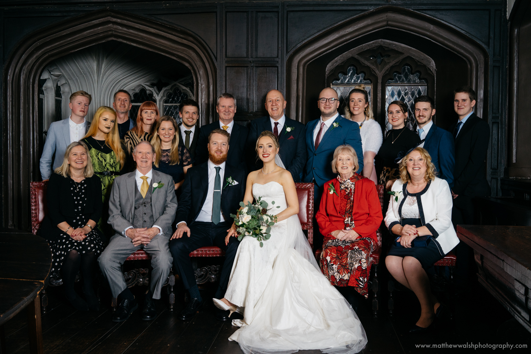 Family photographs are a long tradition at a wedding