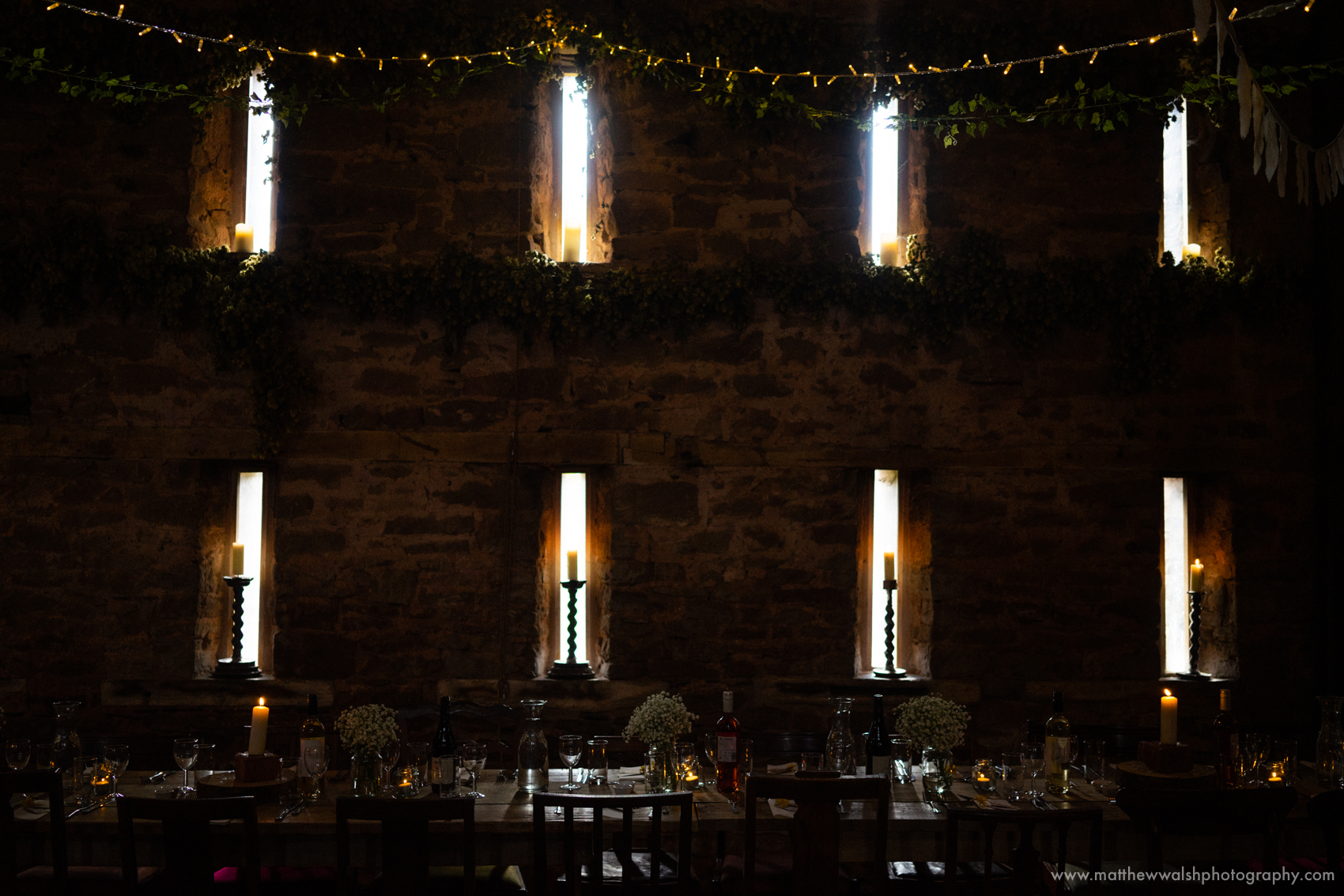 Slits of window light I love these venue details
