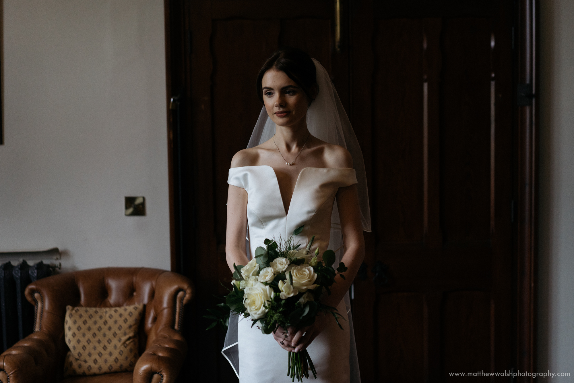 A quick final portrait of the bride before she becomes a married woman