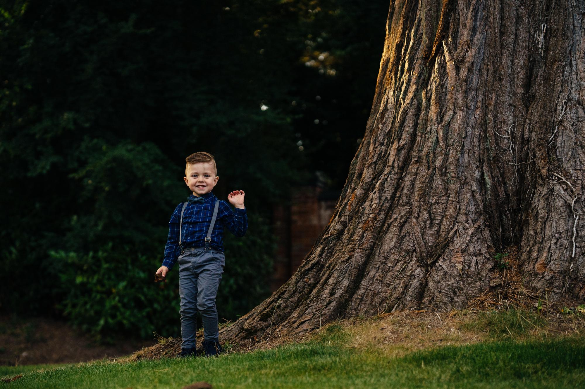A boy poses