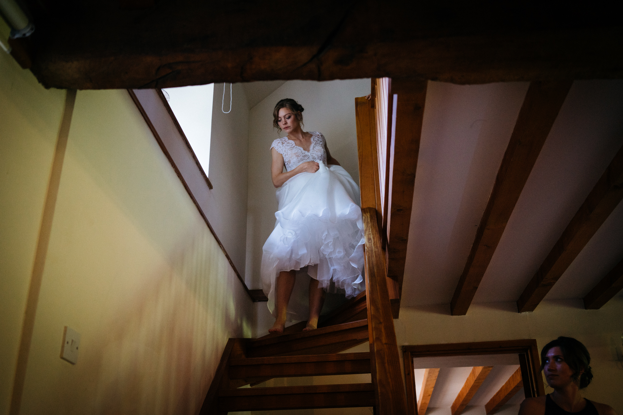 The brides entry
