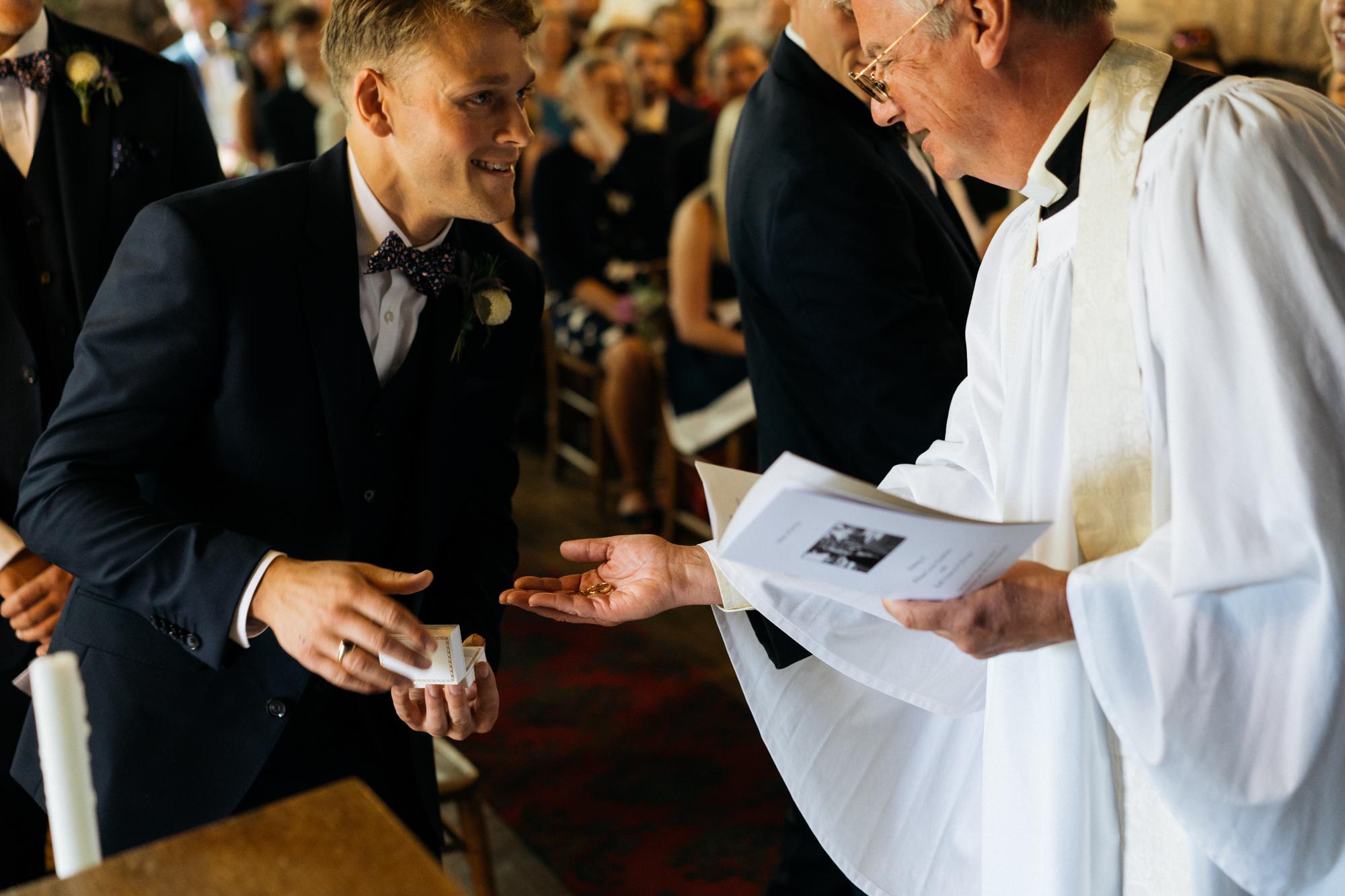 Handing over the rings