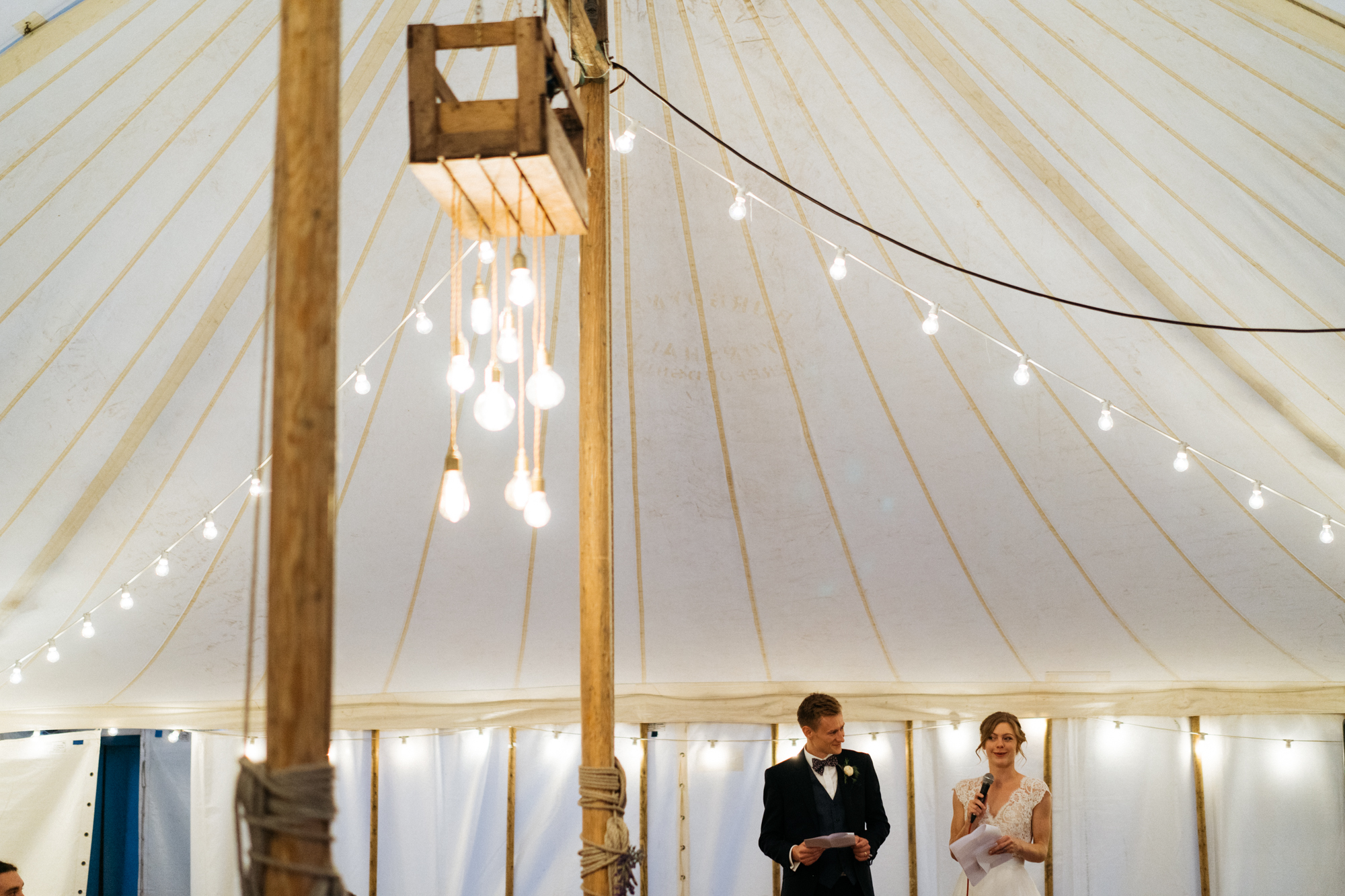 Speeches in the Marquee