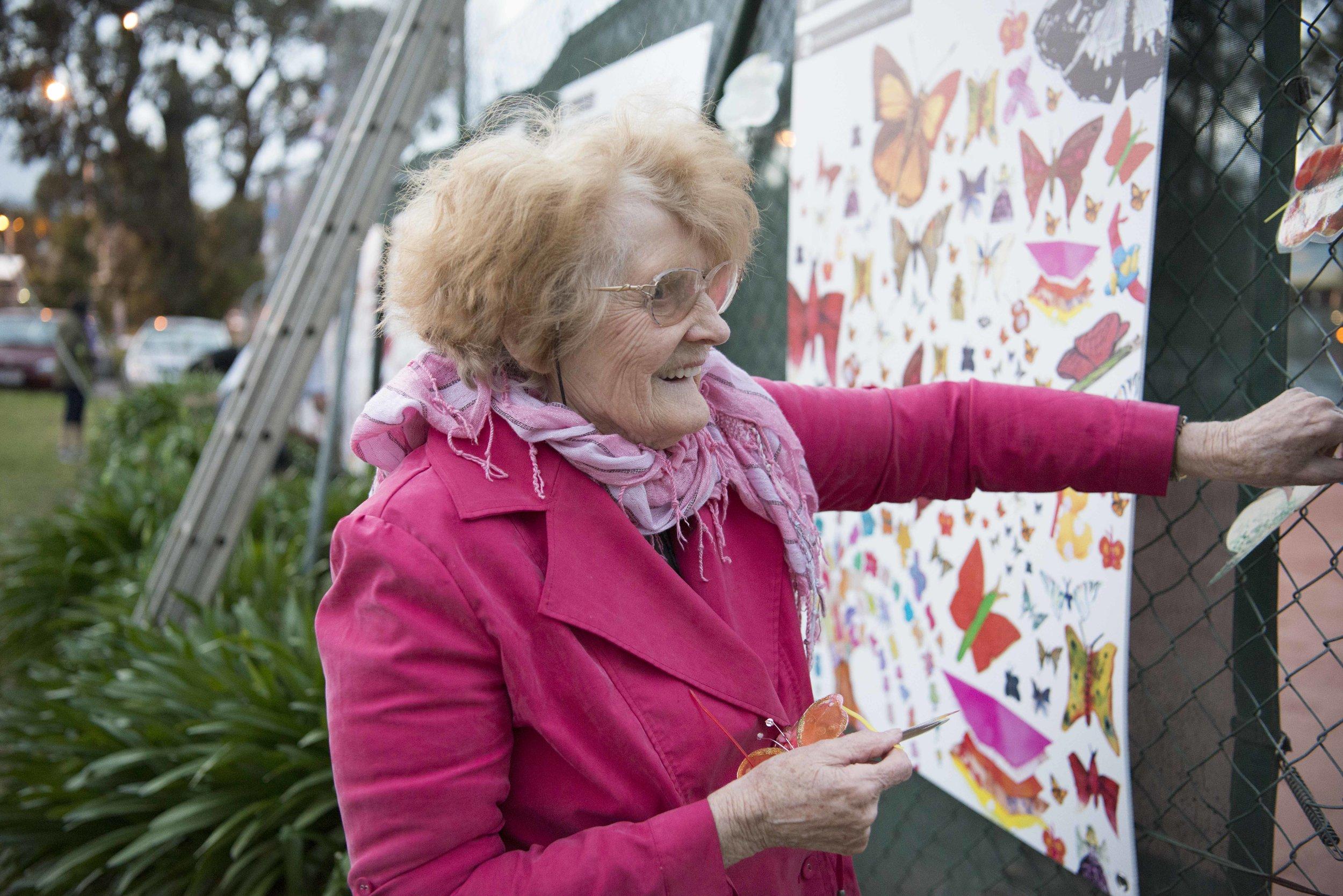 Glenise turns art ninja.