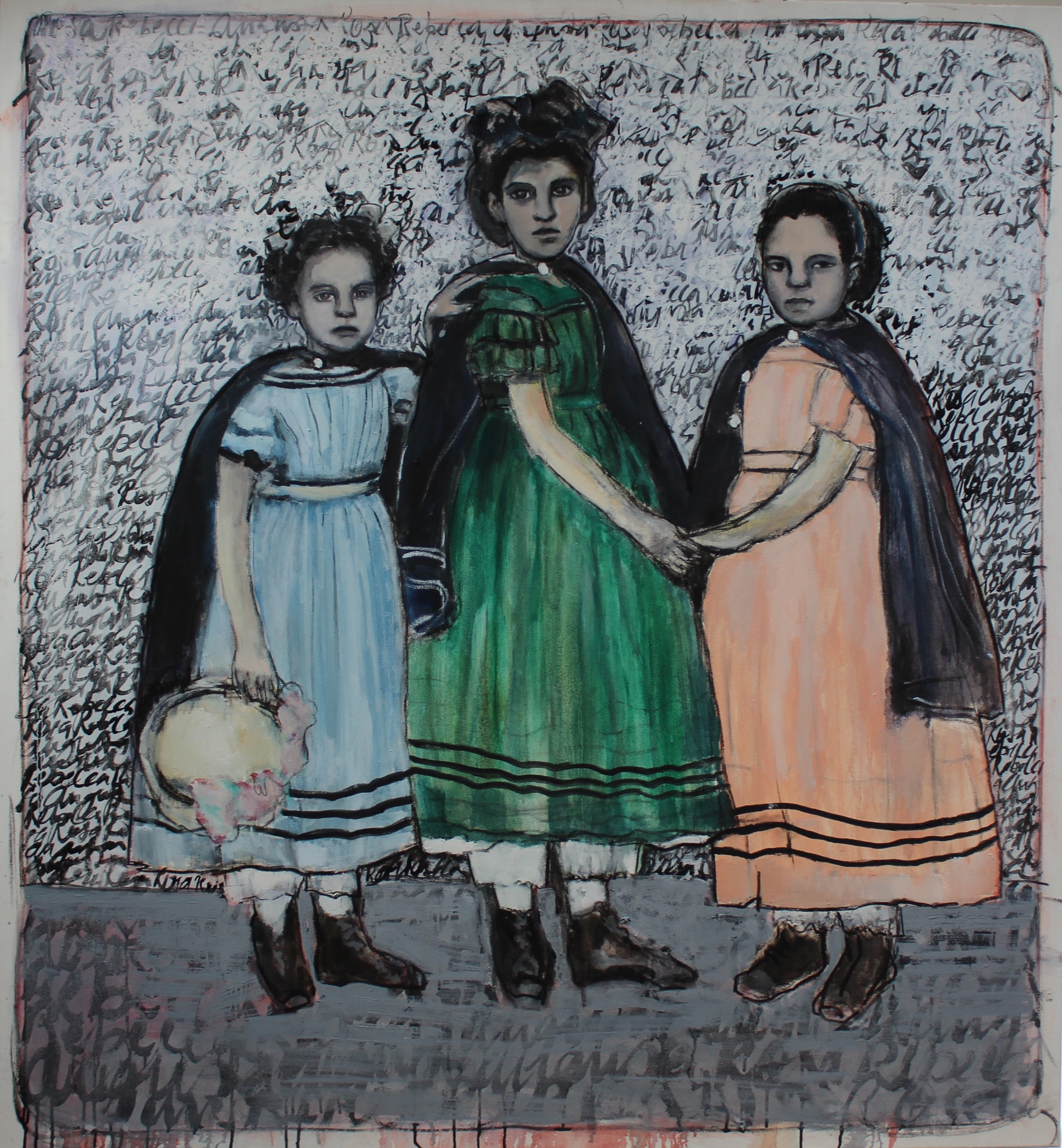 Poster girls 2 - Oil on canvas
