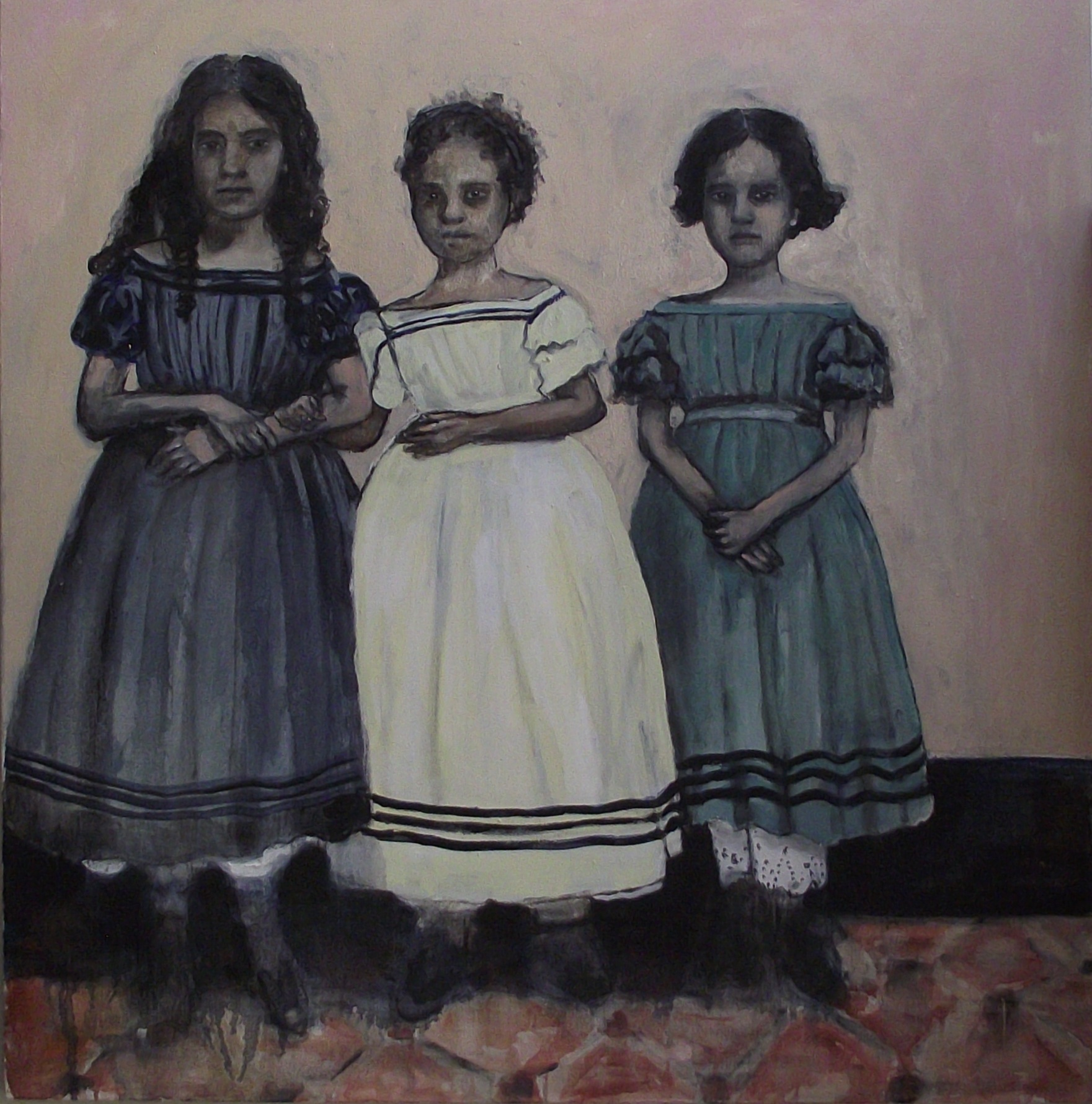 Poster girls - Oil on canvas