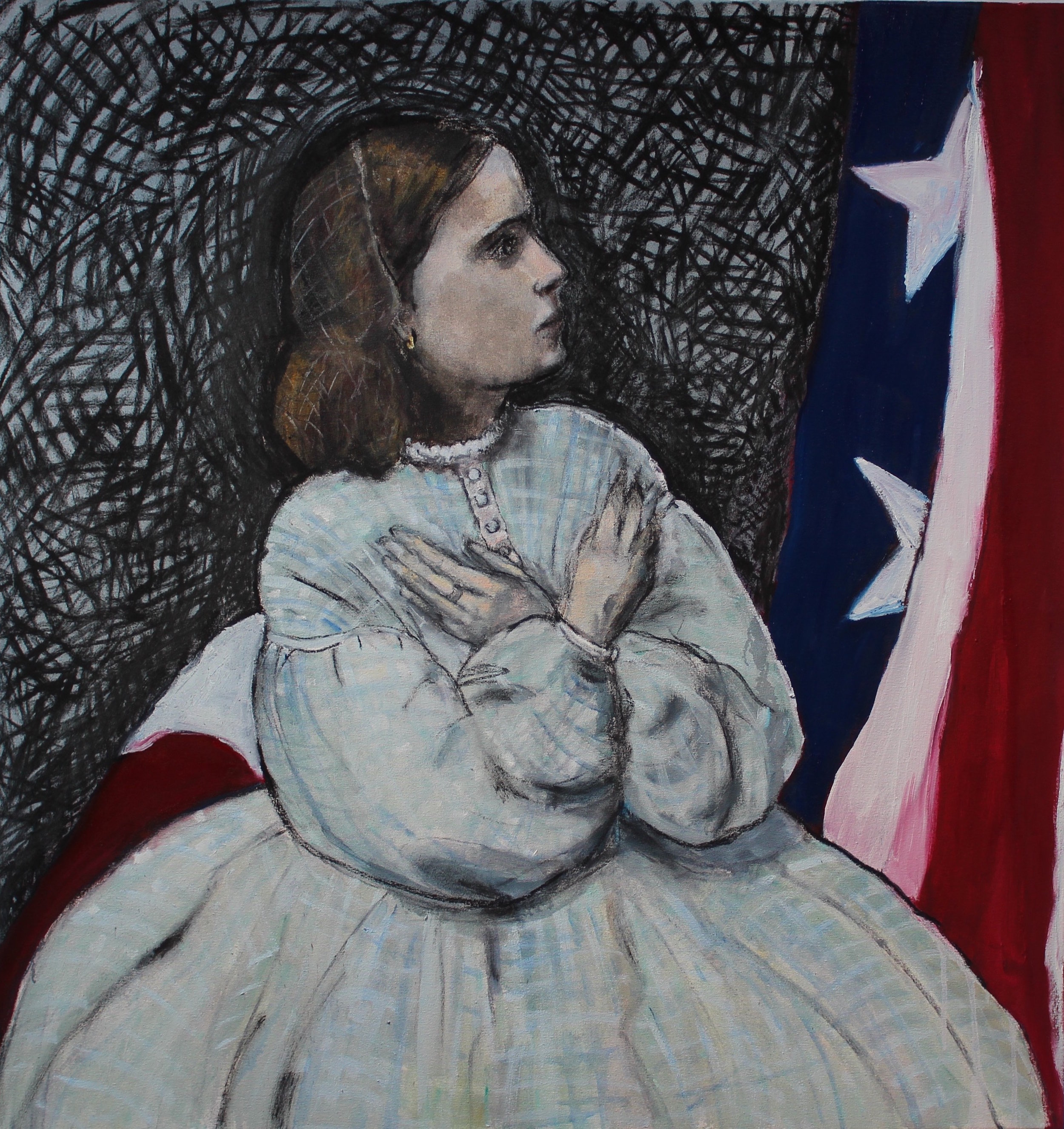 Oh how I love the old flag 2 - Oil on canvas