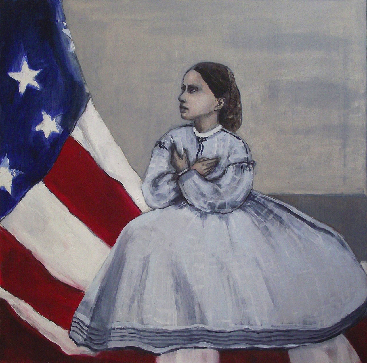 Oh how I love the old flag! - Oil on canvas