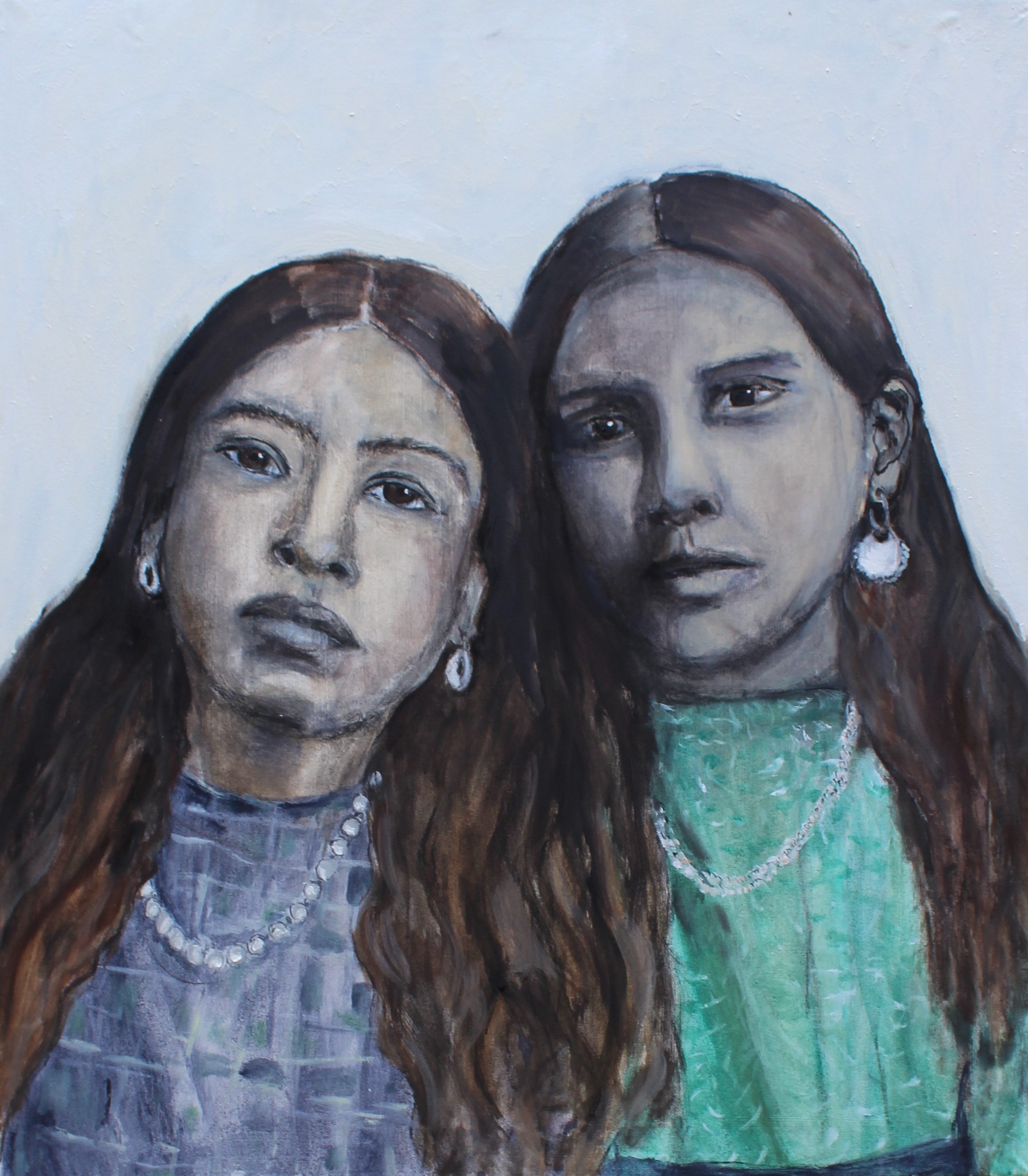 Sisters forever - Oil on canvas