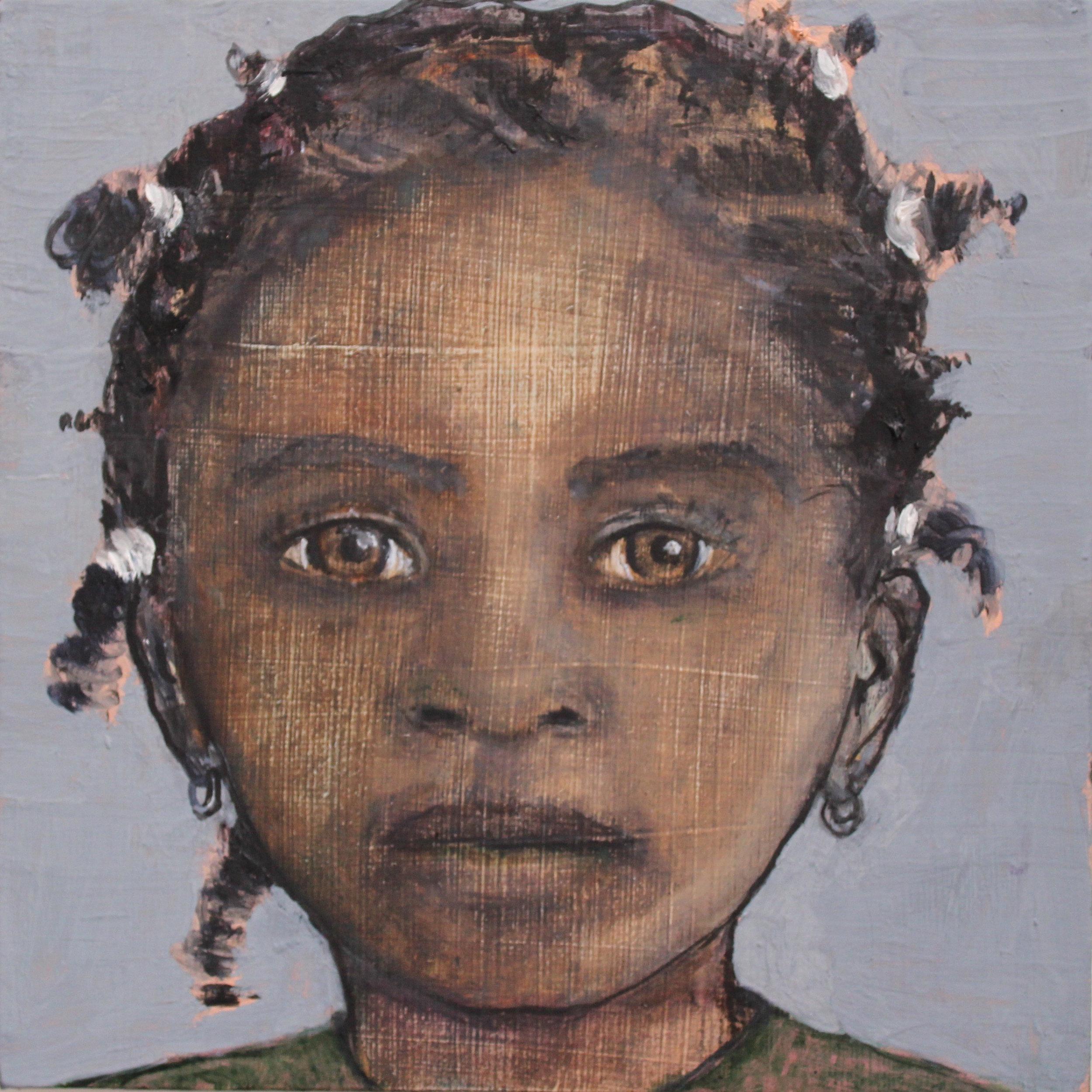 Little girl - Oil on board