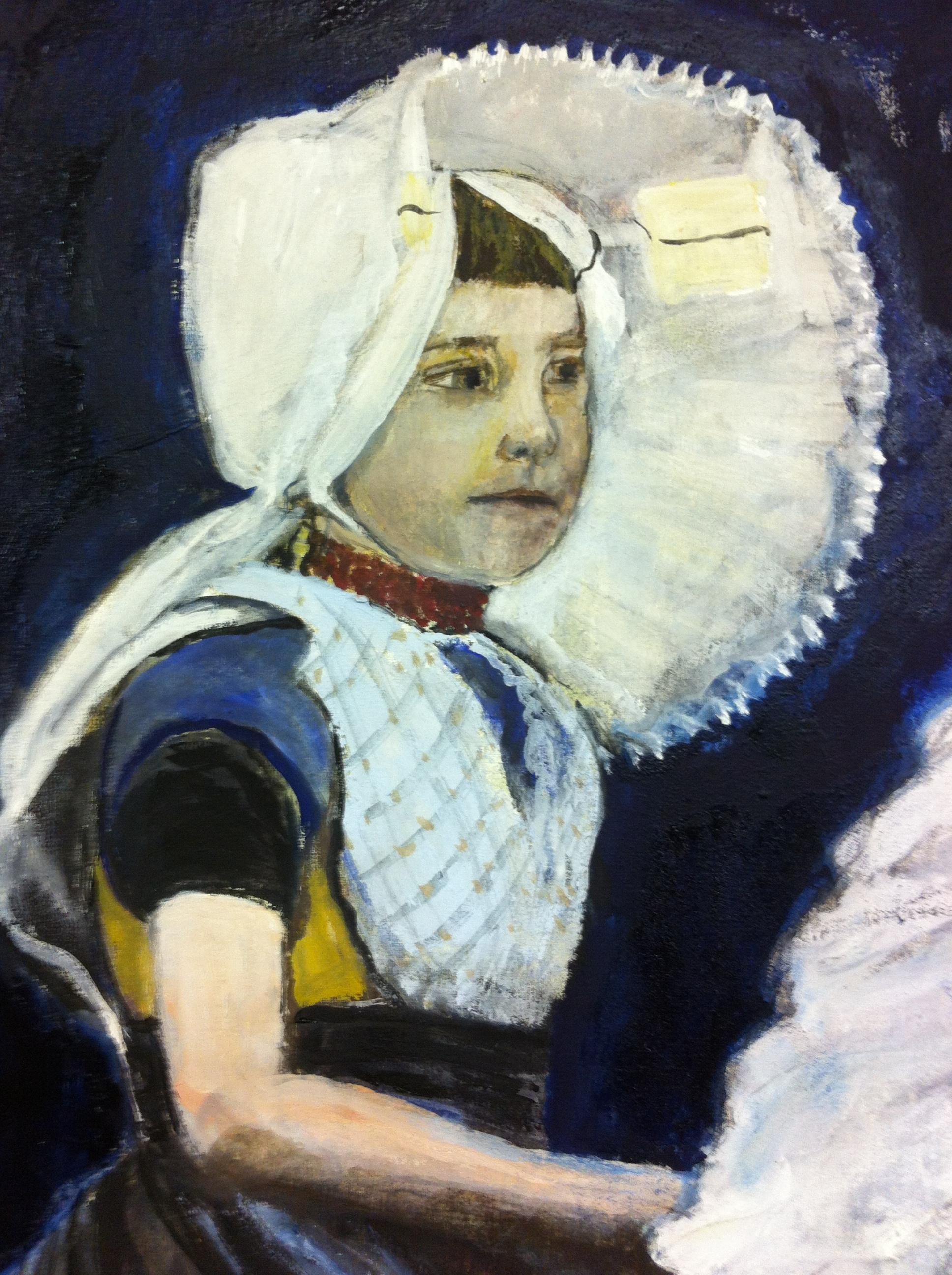 Dutch girl - Oil on canvas